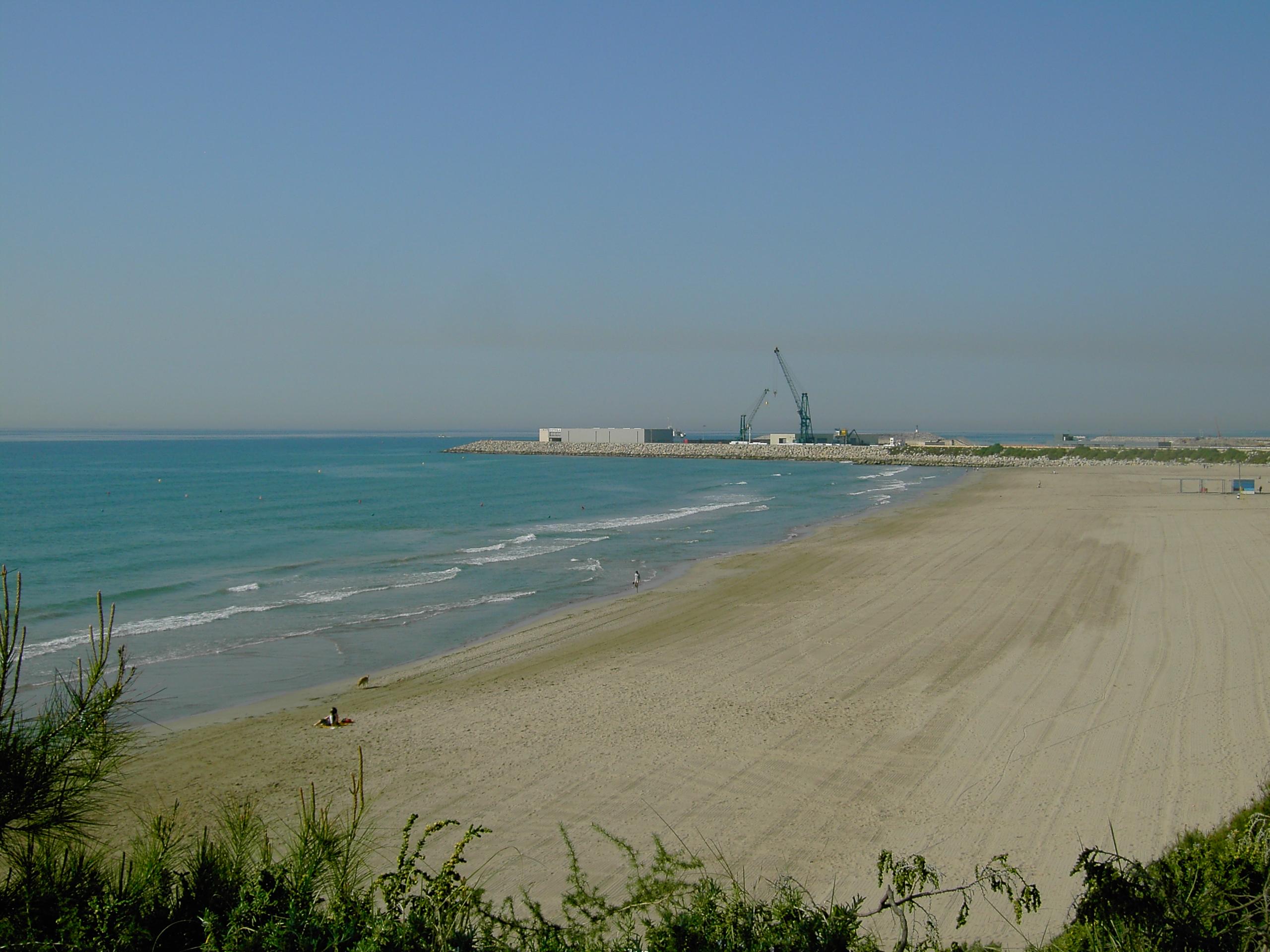 Foto playa El Far de Sant Cristófol. playa del faro