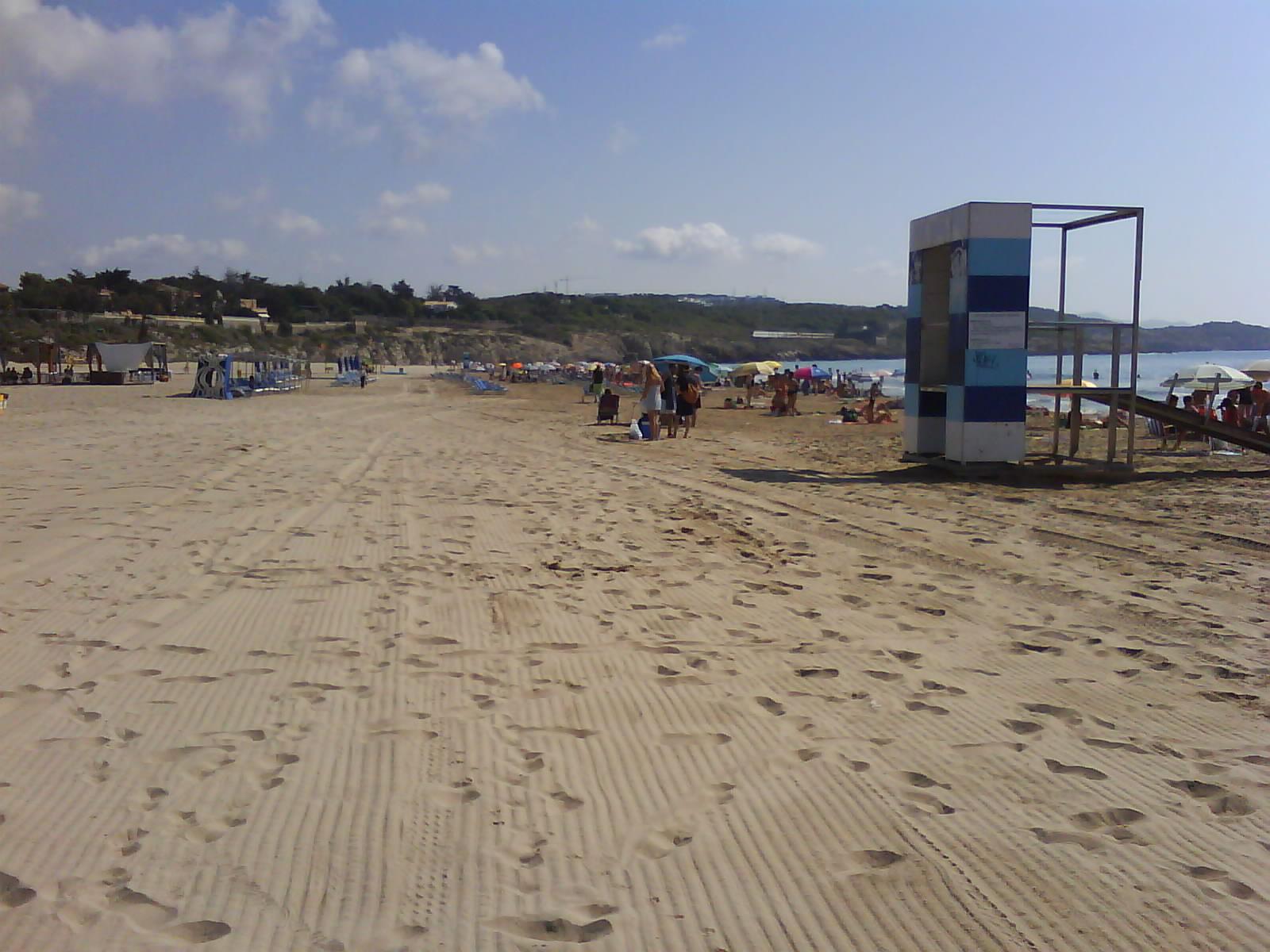 Foto playa El Far de Sant Cristófol. Vilanova- Playa del Faro