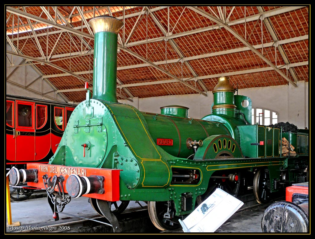 Foto playa El Far de Sant Cristófol. Primera locomotora en España