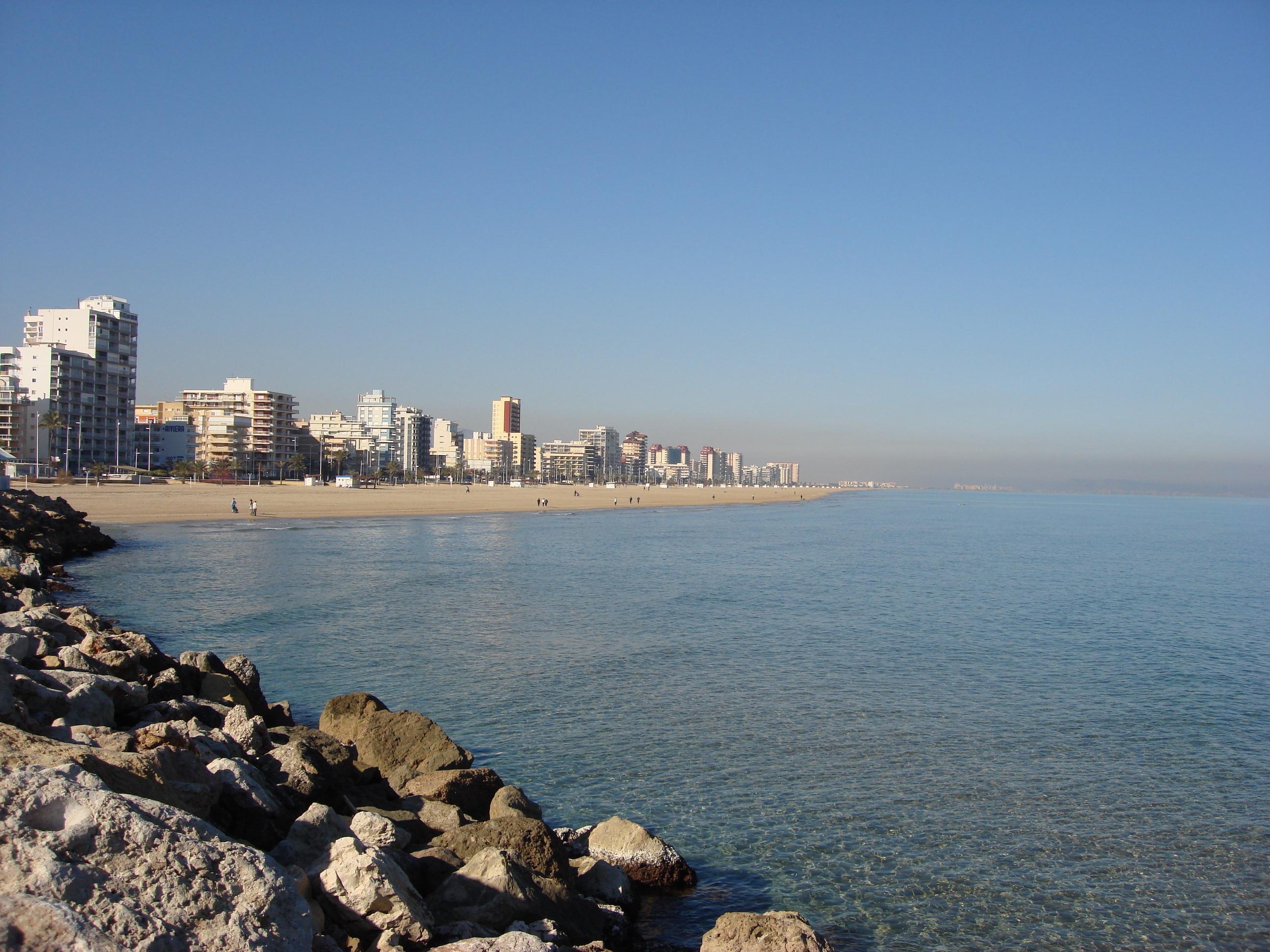 Foto playa L´Ahuir. playa de gandia