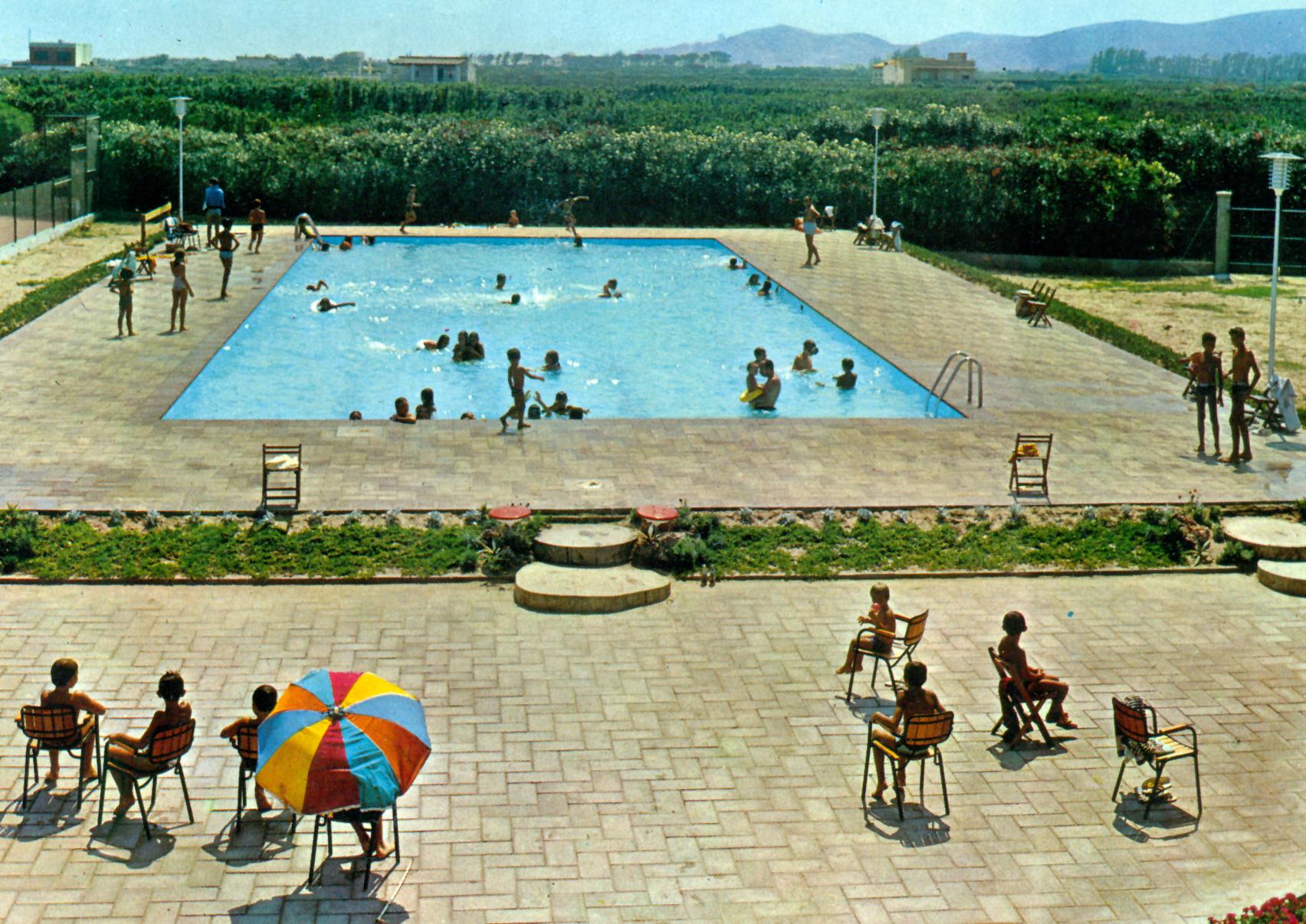 Foto playa Mareny de Sant Llorenç. Urbanització Mareny Blau. Anys 70