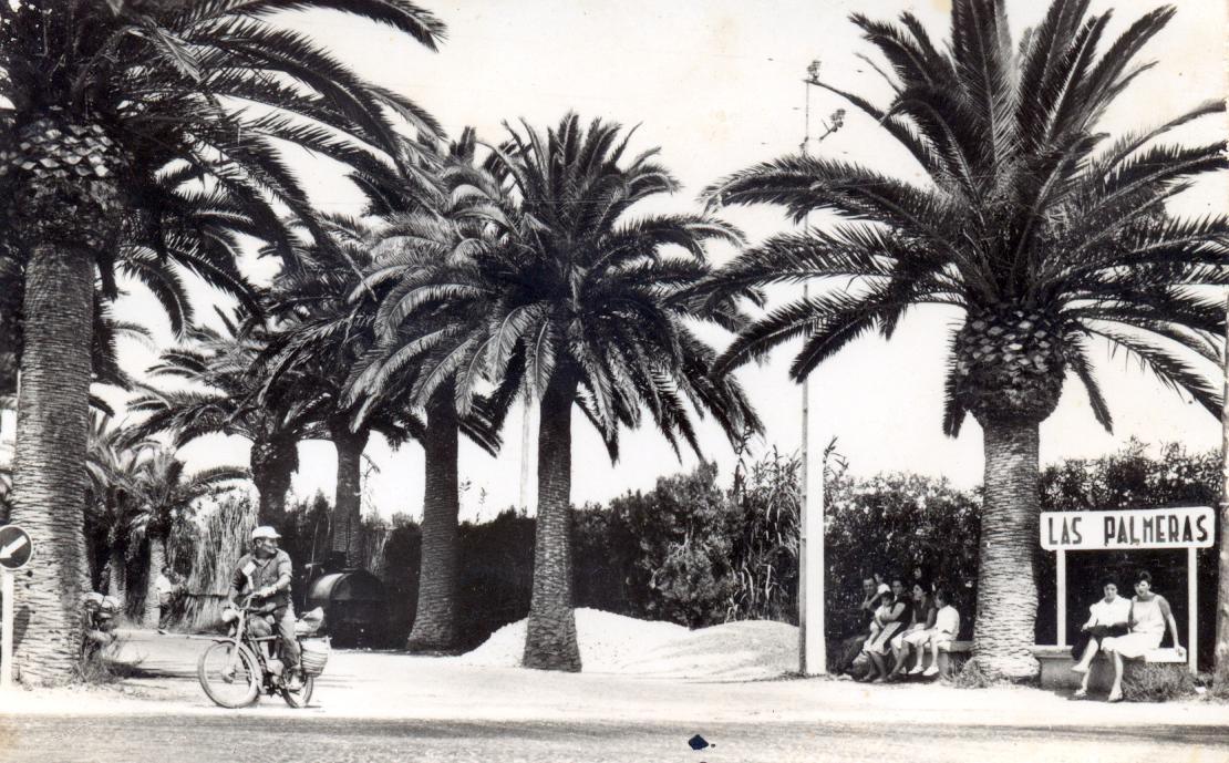 Foto playa Les Palmeretes. Antiga entrada a Les Palmeres
