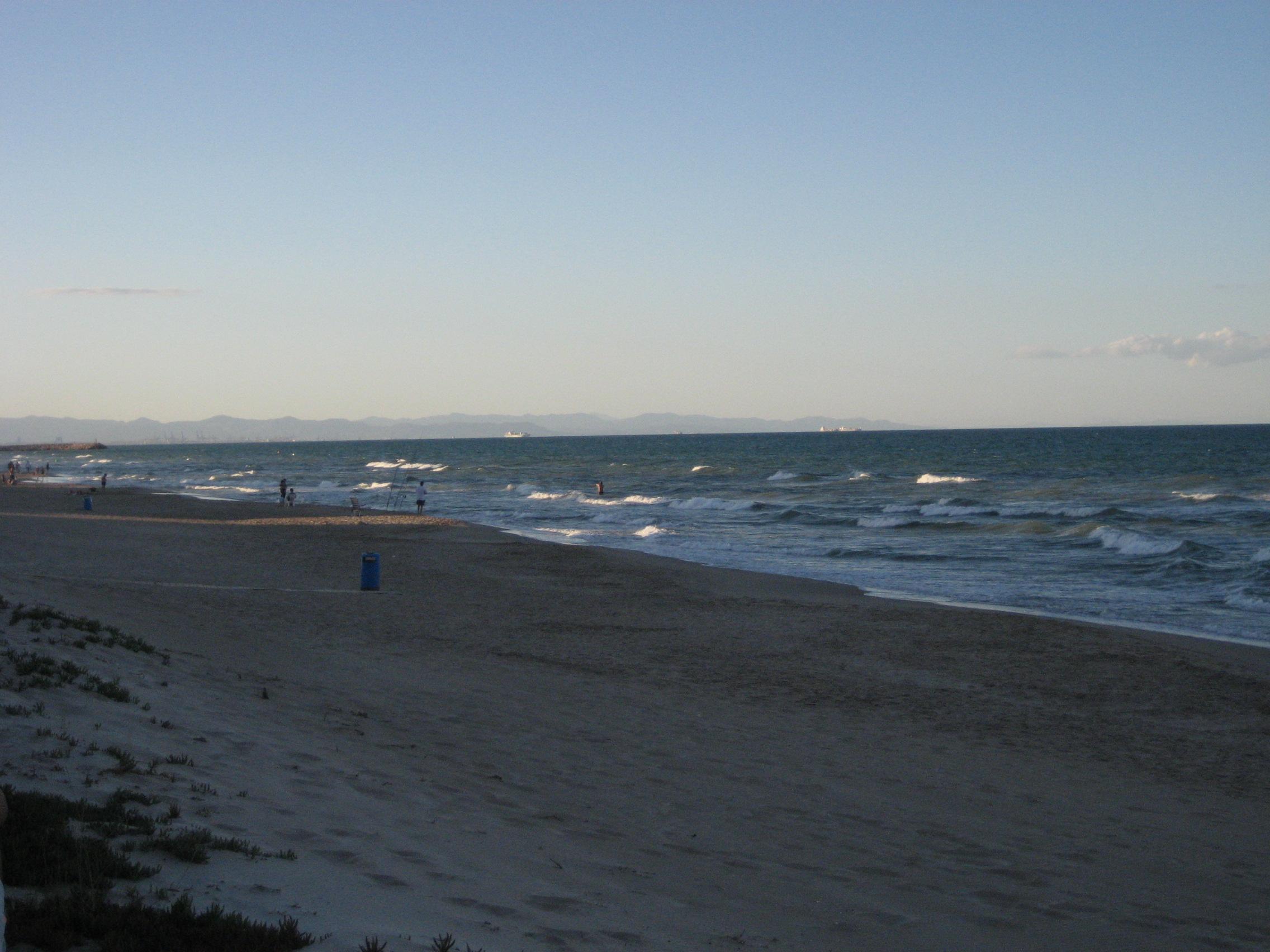 Foto playa Les Palmeretes. Vesprada clara