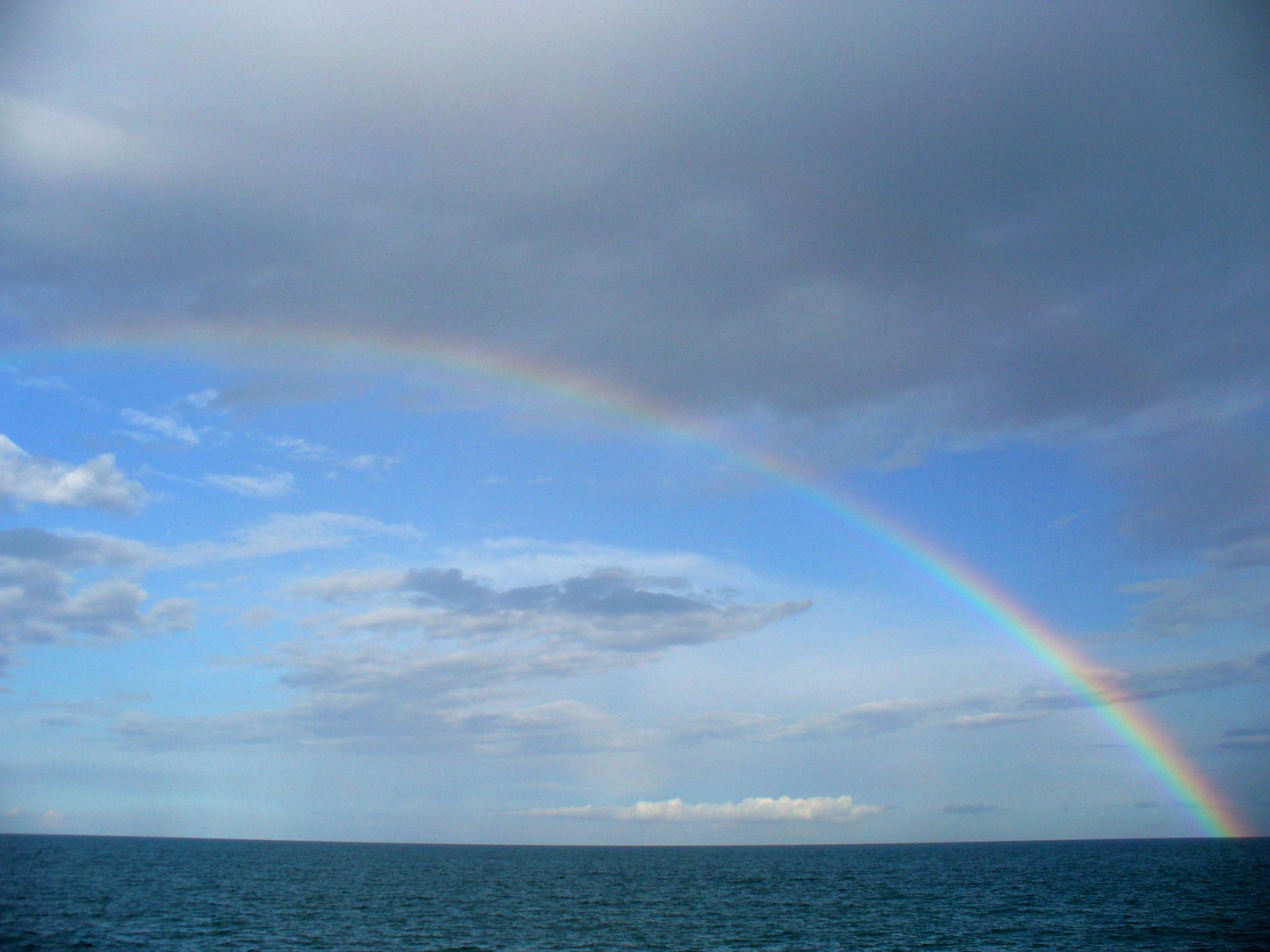 Foto playa Massalfassar. arco iris III  3-05-07