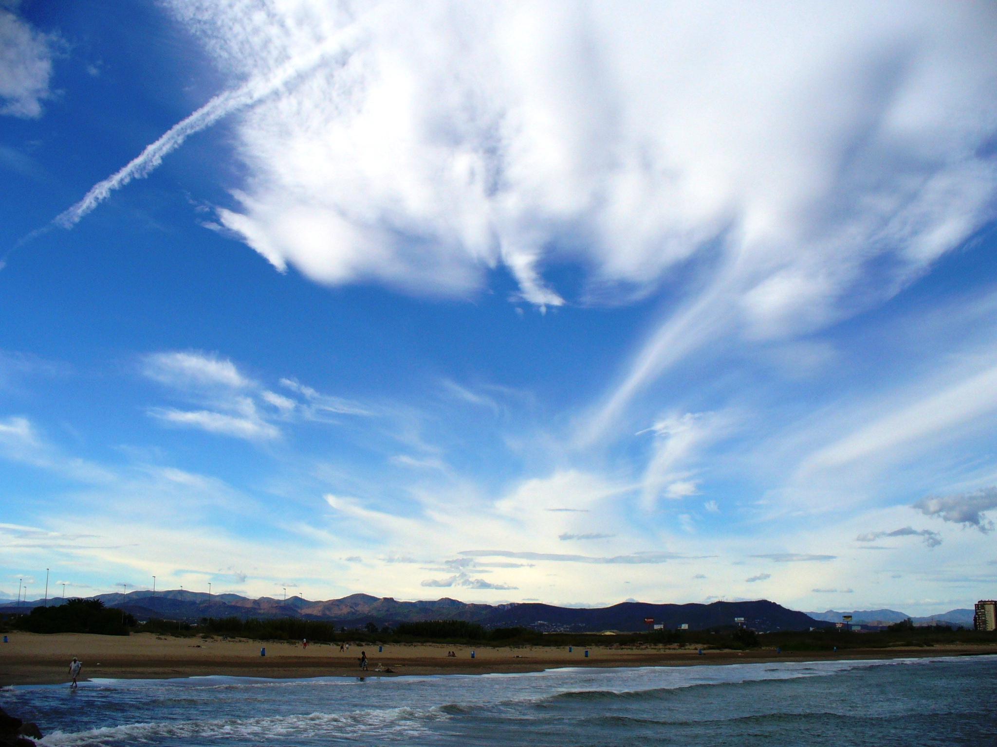 Foto playa Massamagrell. horizonte