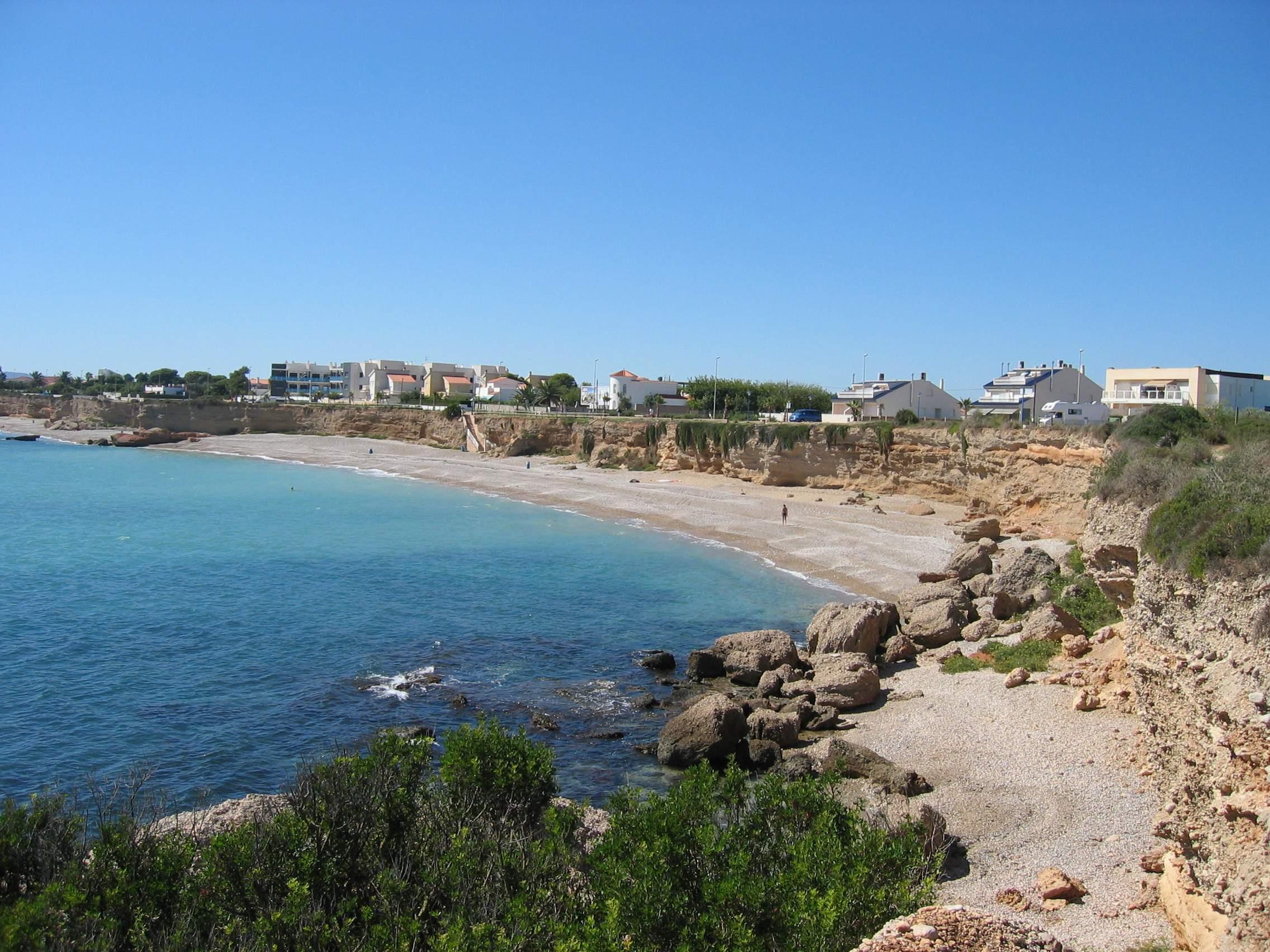 Foto playa Les Deveses. Cala zona norte Vinaròs 2