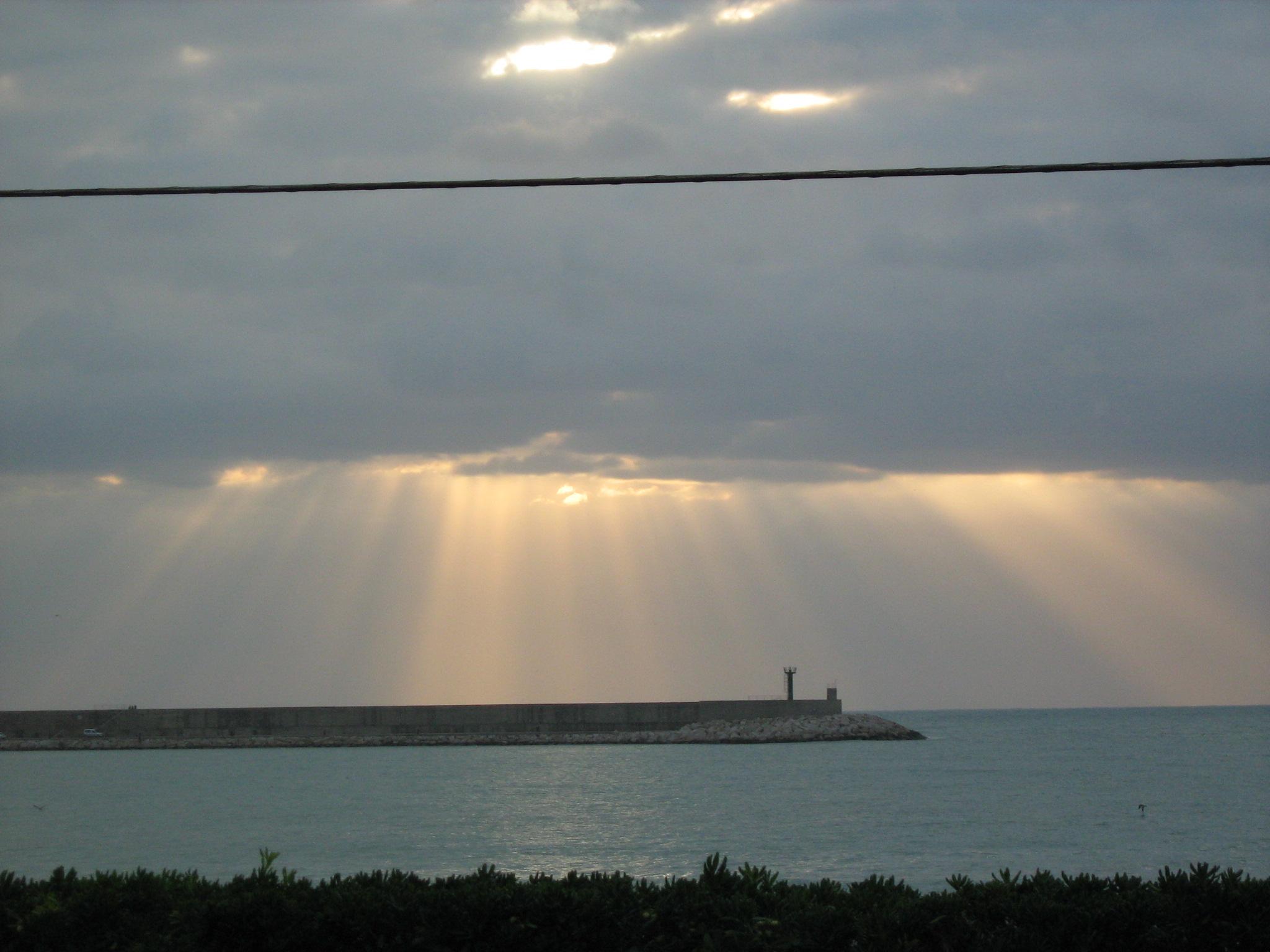 Foto playa Del Clot. Nubes en el cielo