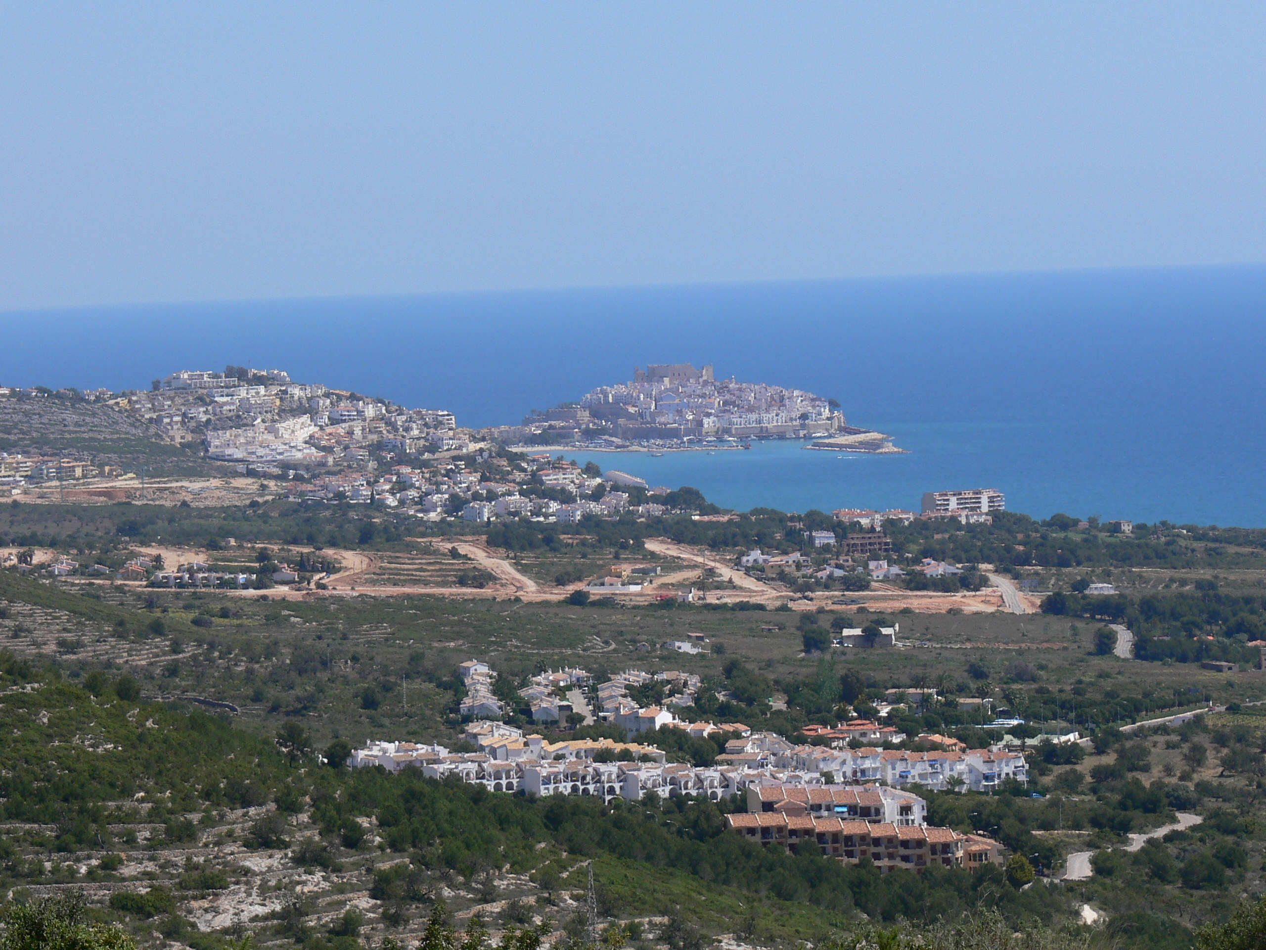 Foto playa Santa Lucía. Panorama Peñiscola desde Fontnova