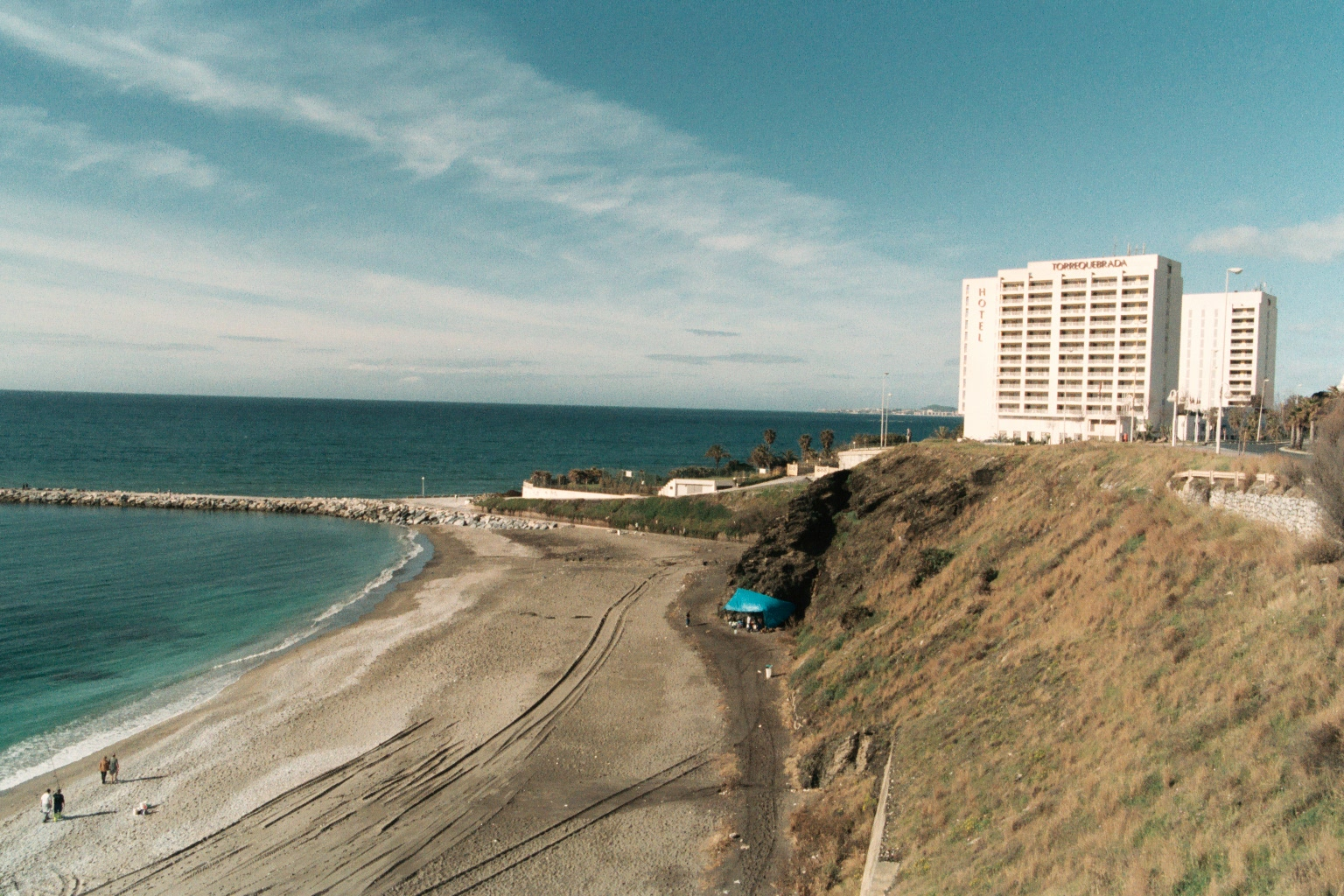 Foto playa Torrequebrada. Spain_Andalusia_Benalmadena_*****Hotel Torrequebrada_25_22A.JPG