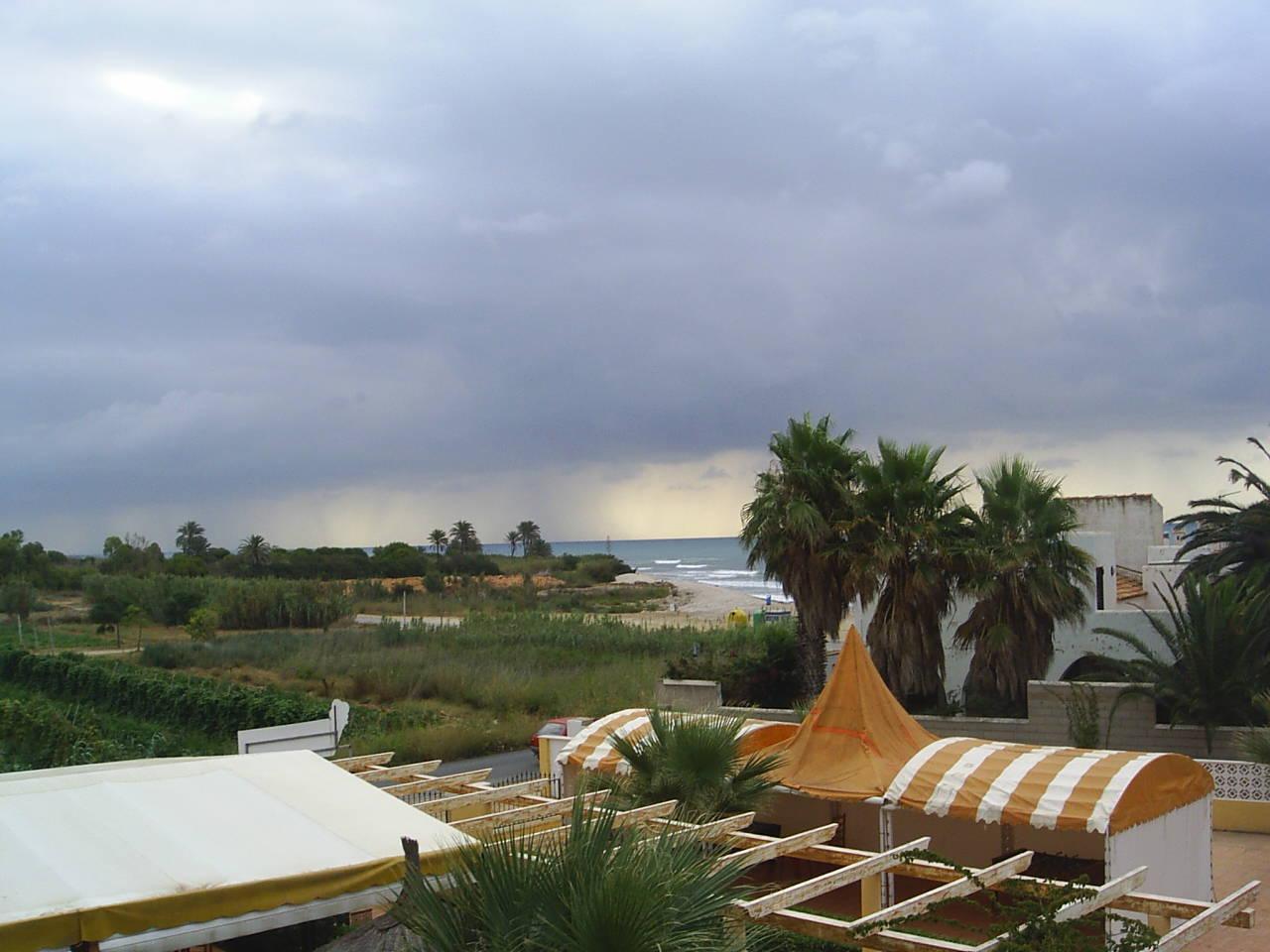 Foto playa Cap i Corp / Capicorb. Tormenta en Alcoceber
