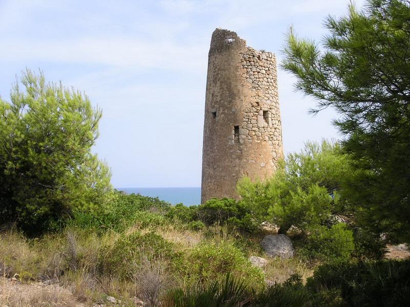 Foto playa Renega. Torre d´aguait.