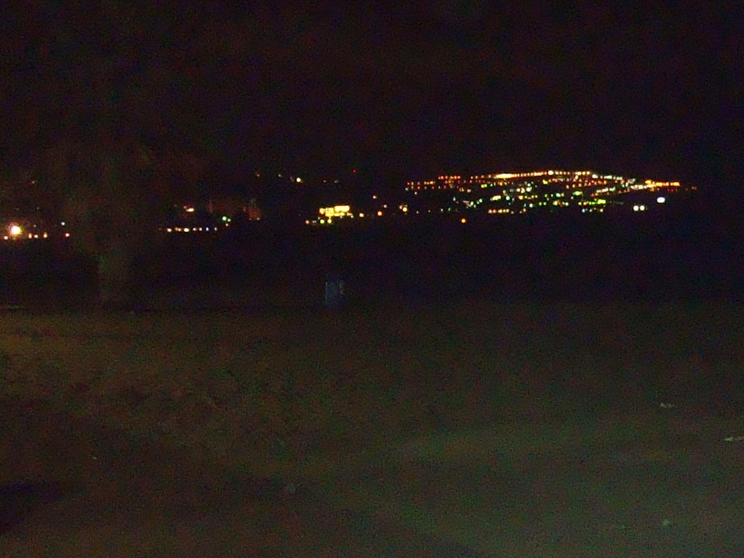 Foto playa Cala del Retor. Benicassim de noche paseo maritimo