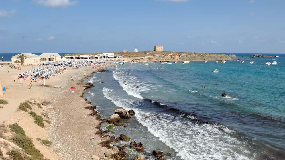 Foto playa Puerto Viejo (Isla de Tabarca). Isla Tabarca, Playa © (Foto_Seb)