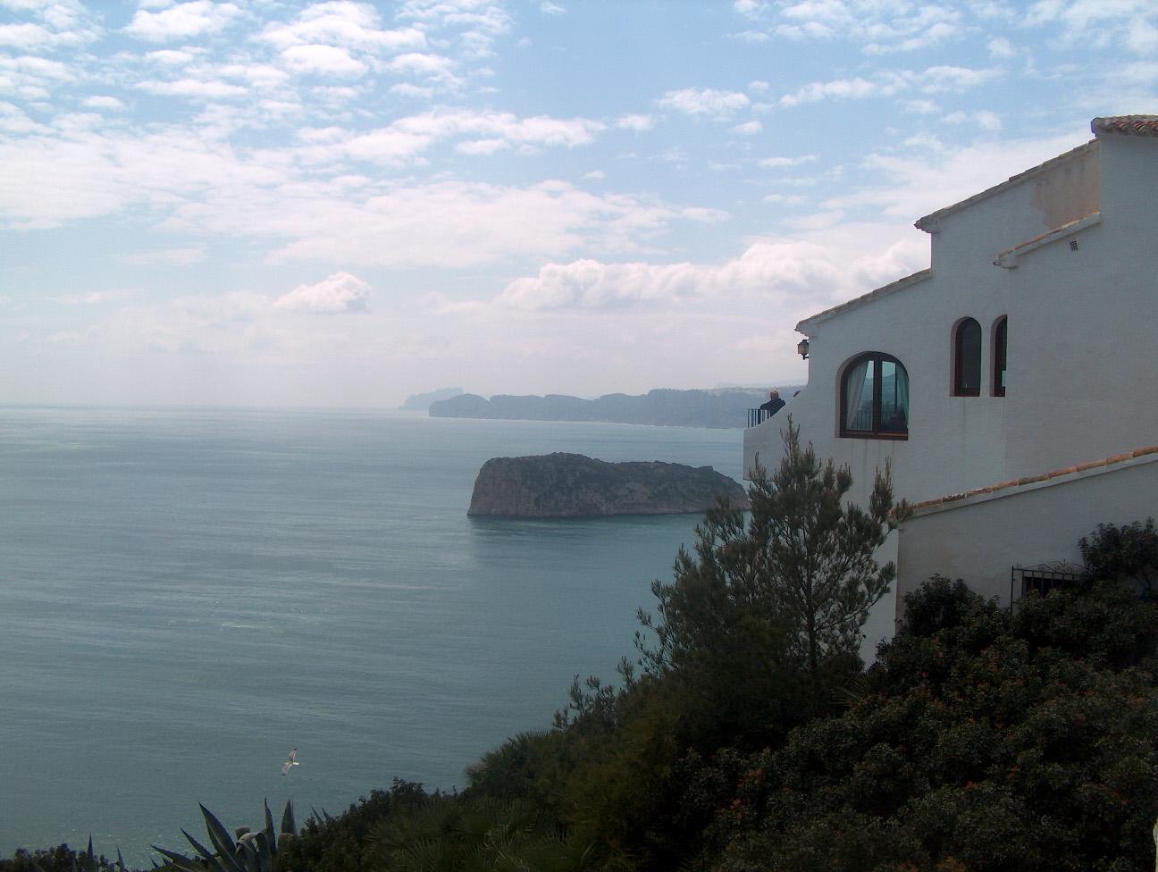 Foto playa Cala de la Barra. Vista desde el Cabo de La Nao