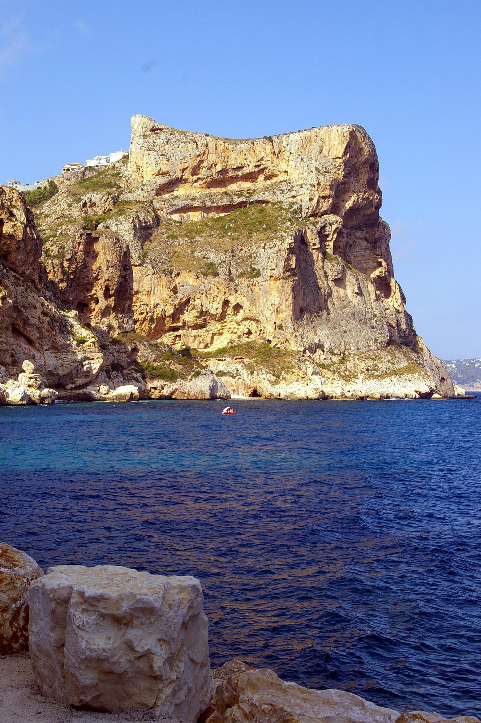 Foto playa Moraig. Cala del Moraig, Benitatxell, Alicante, Cmdad.Valenciana