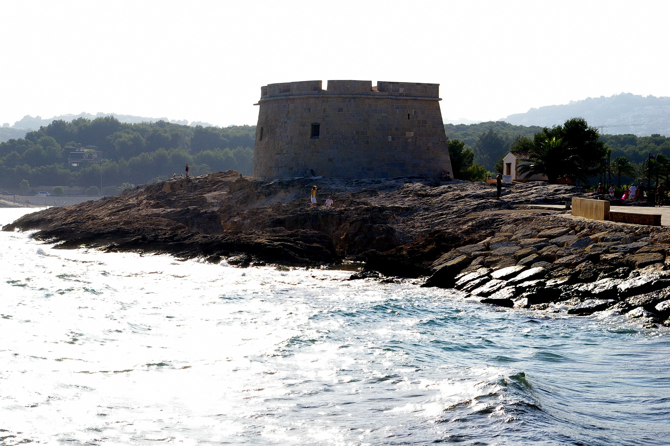 Foto playa El Baladrar. Castillo, Moraira, Alicante, Cmdad.Valenciana