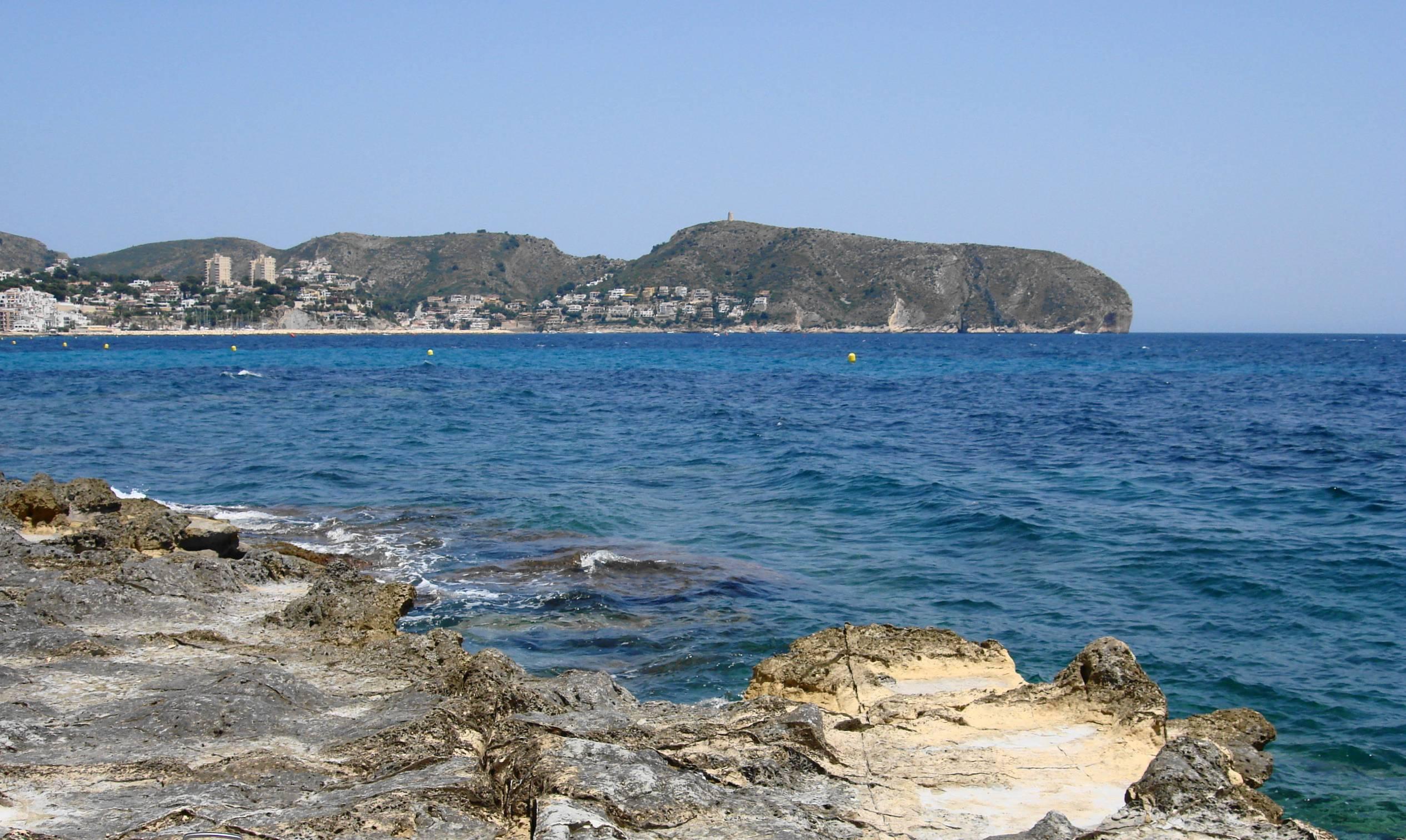 Foto playa El Baladrar. Moraira