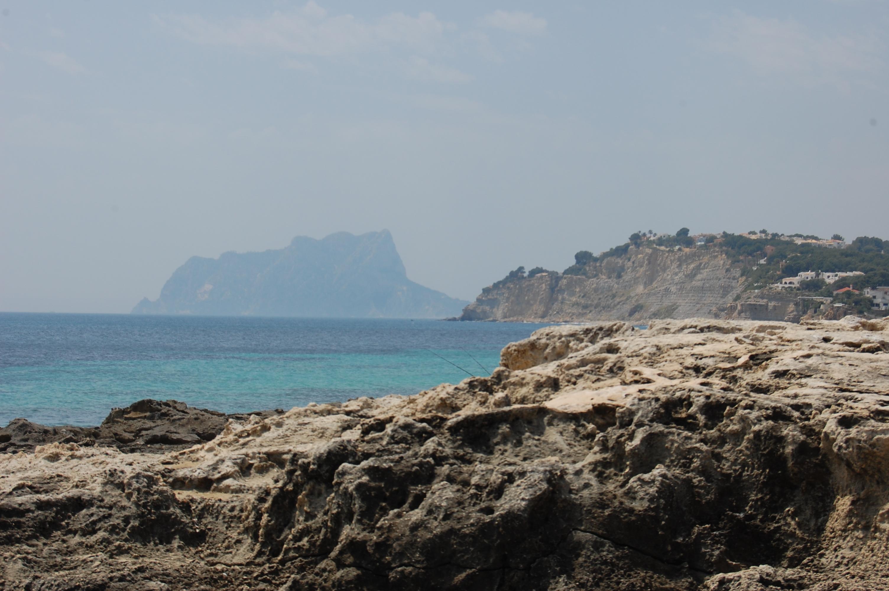 Foto playa El Baladrar. Moraira view to Calpe