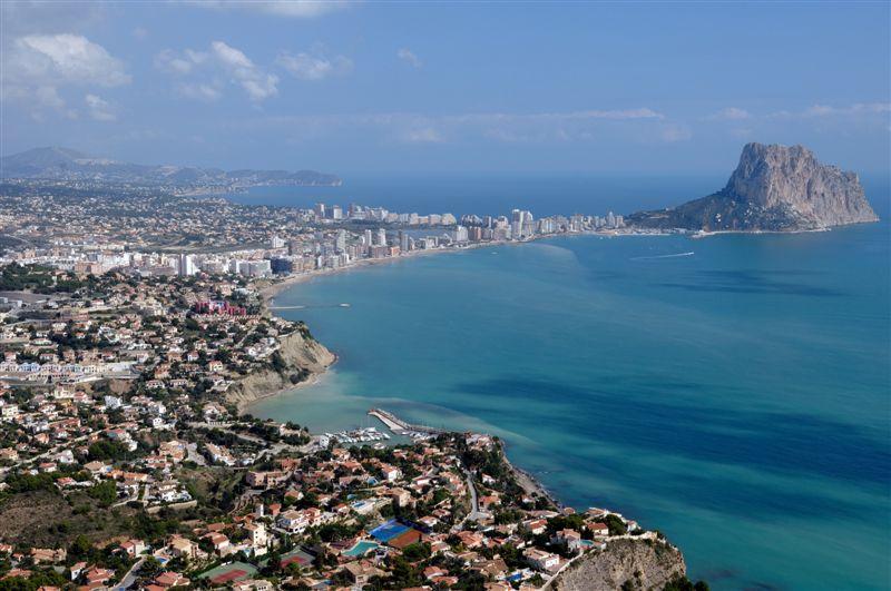 Foto playa Cala de la Barra Grande. Vista de Calpe desde Mirador © (Foto_Seb)