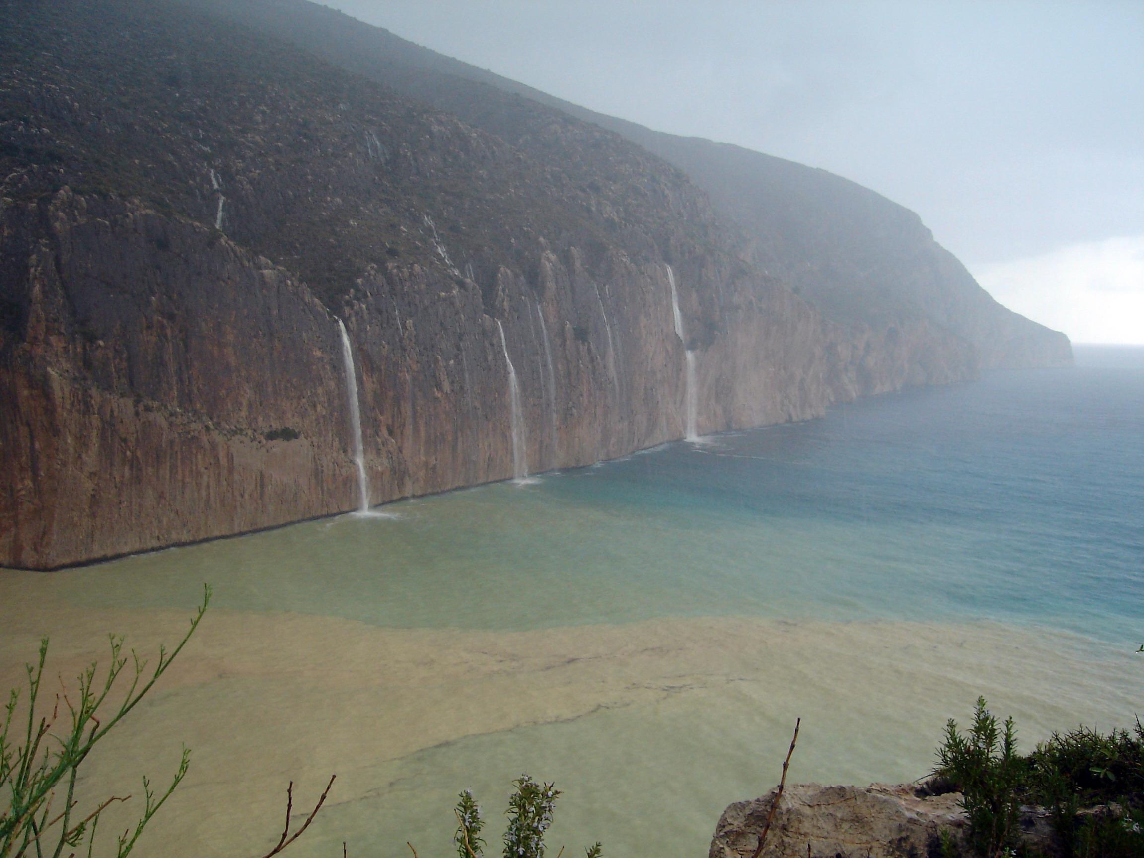 Foto playa Mascarat Norte. Llueve en Toix