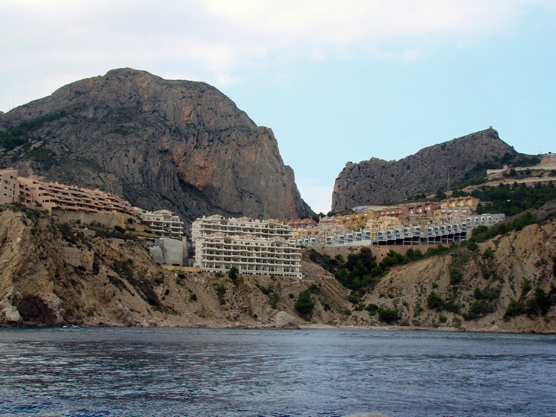 Foto playa Mascarat Norte. Urbanizaciones hasta el mar.