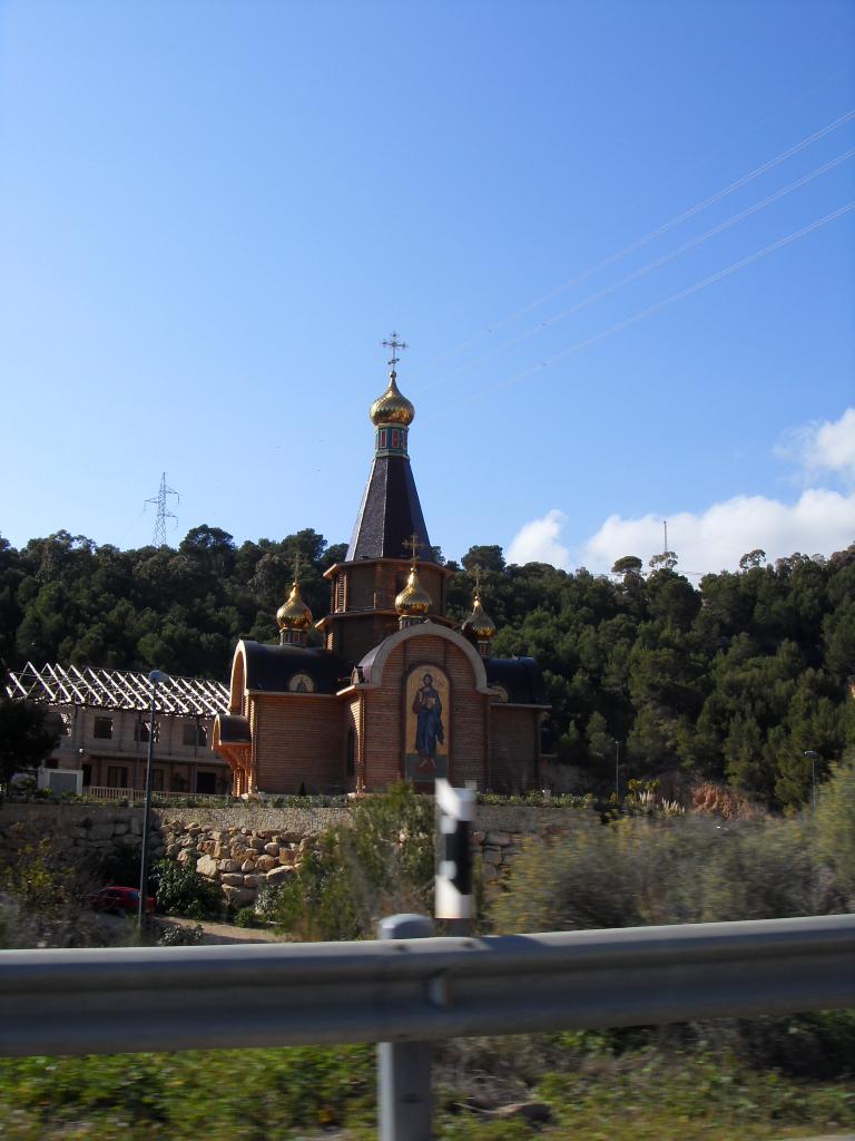 Foto playa Solsida / Playa Galera. iglesia ortodoxa