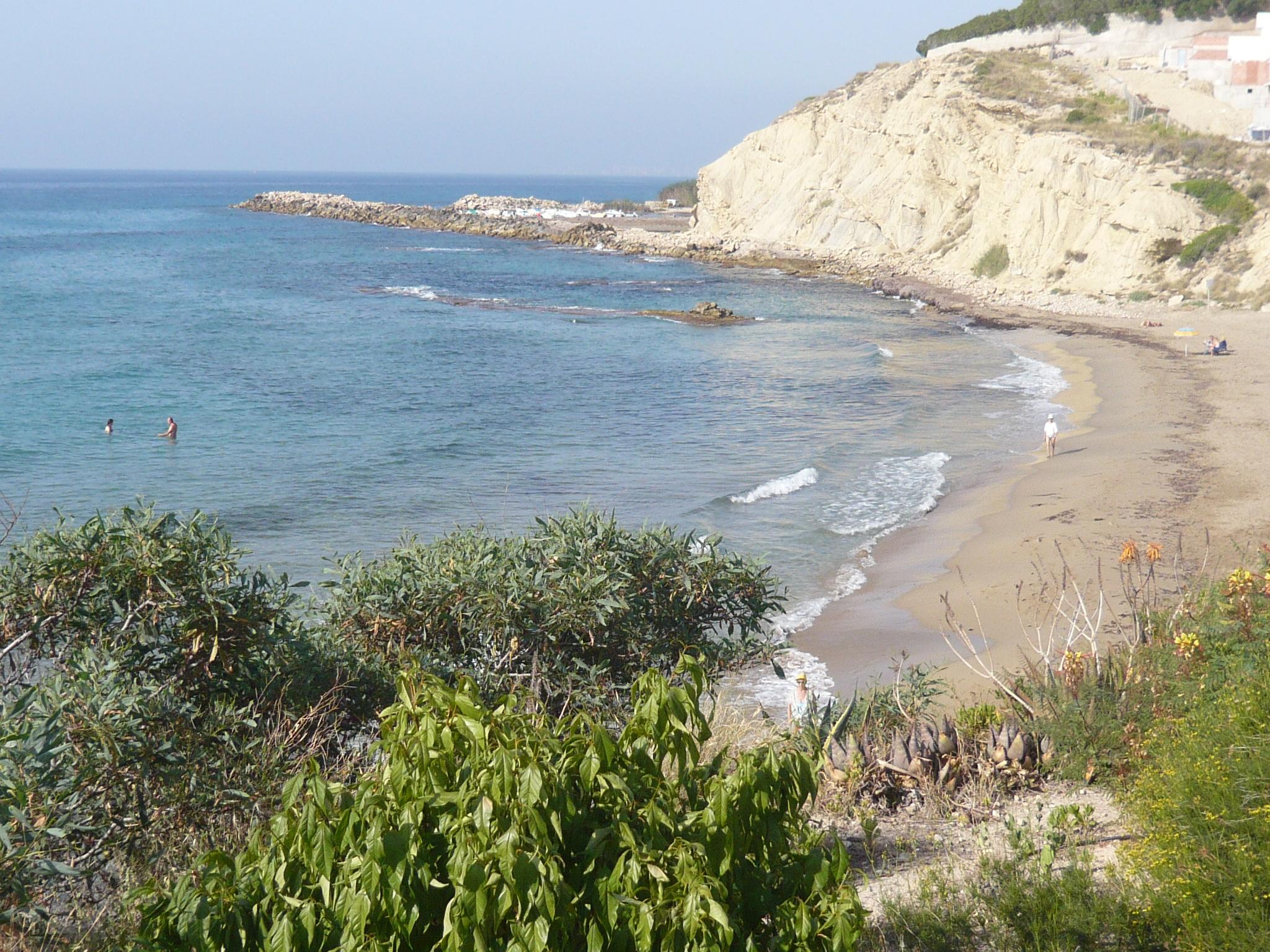 Foto playa La Almadraba. Cala Lanuza, El Campello