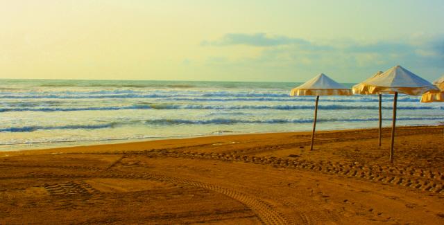 Foto playa Babilonia. El final del verano