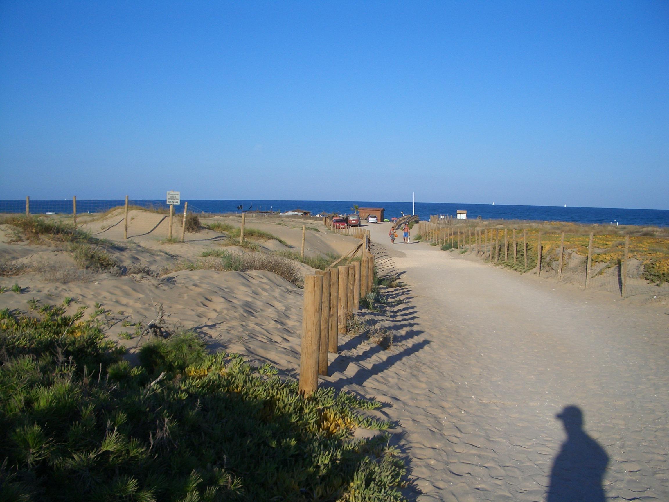 Foto playa El Campo. Dunas de Guardamar