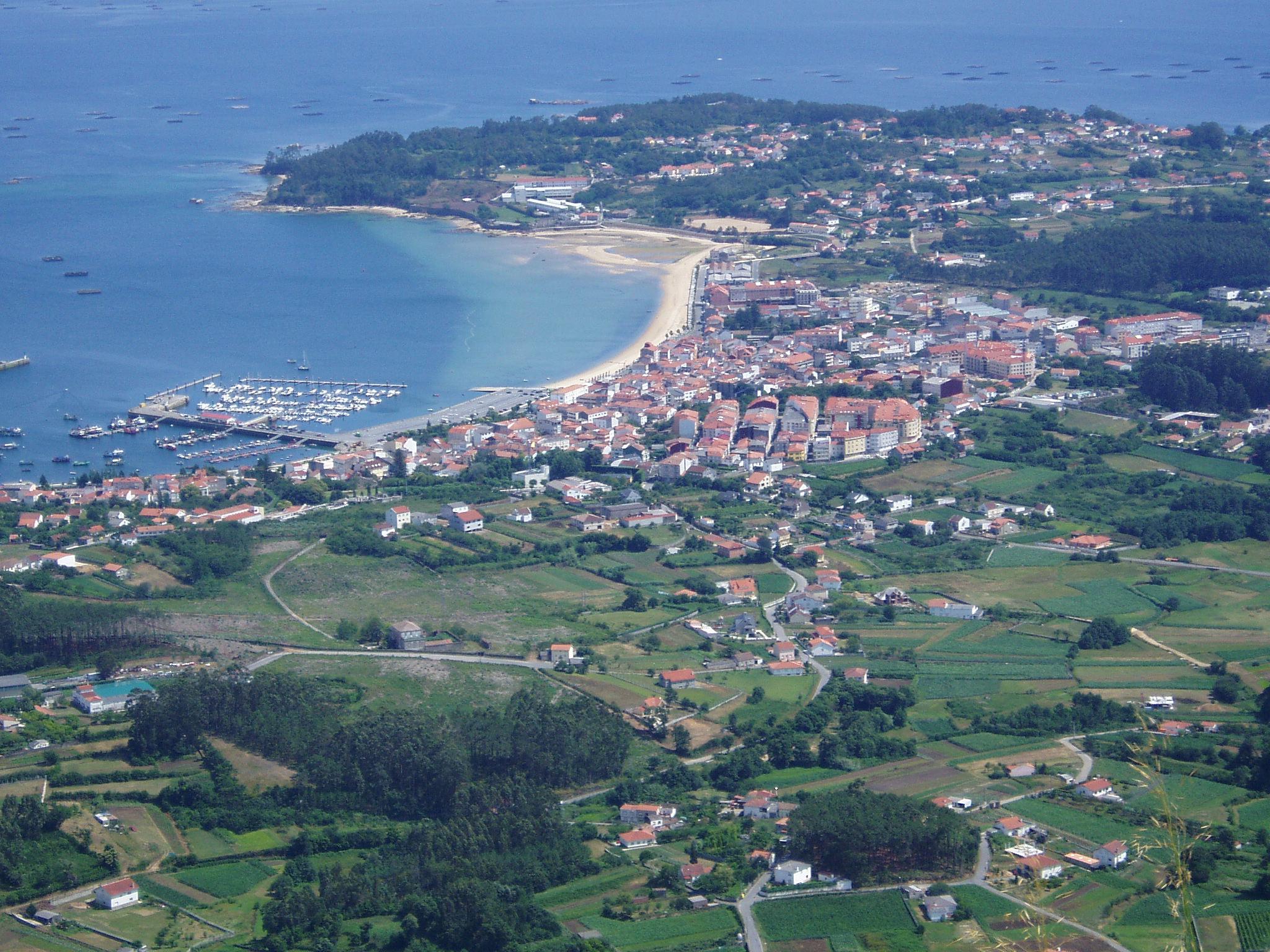Foto playa Fontenla. Foto aerea de Boiro