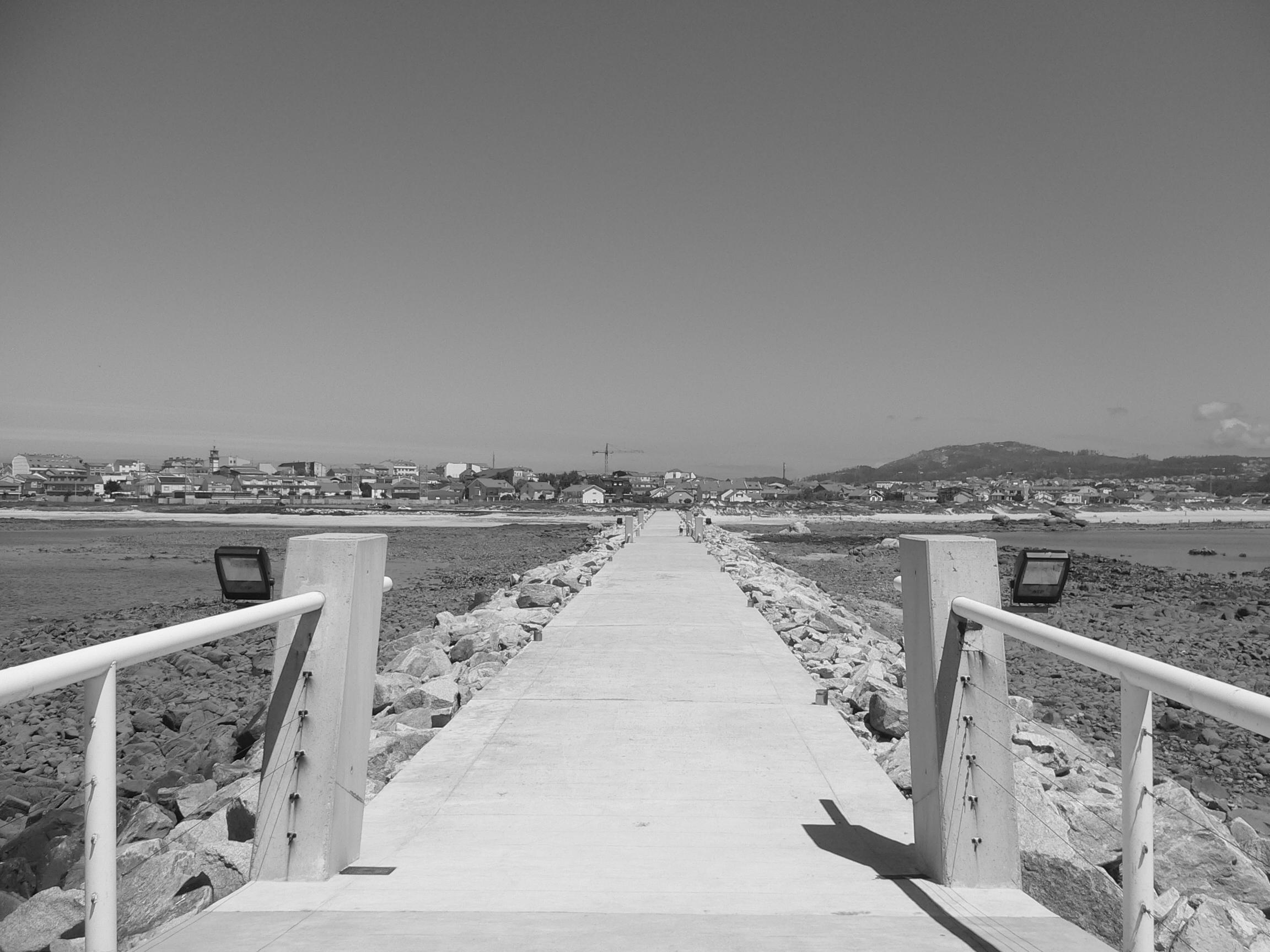 Foto playa Tasca. Aguiño BN