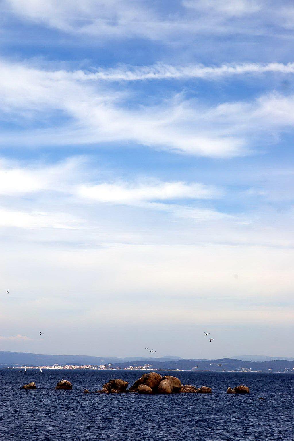 Foto playa Rego das Cargas. Santa Eugenia de Riveira, (Santa Uxia de Ribeira), A Coruña, Galicia, Spain