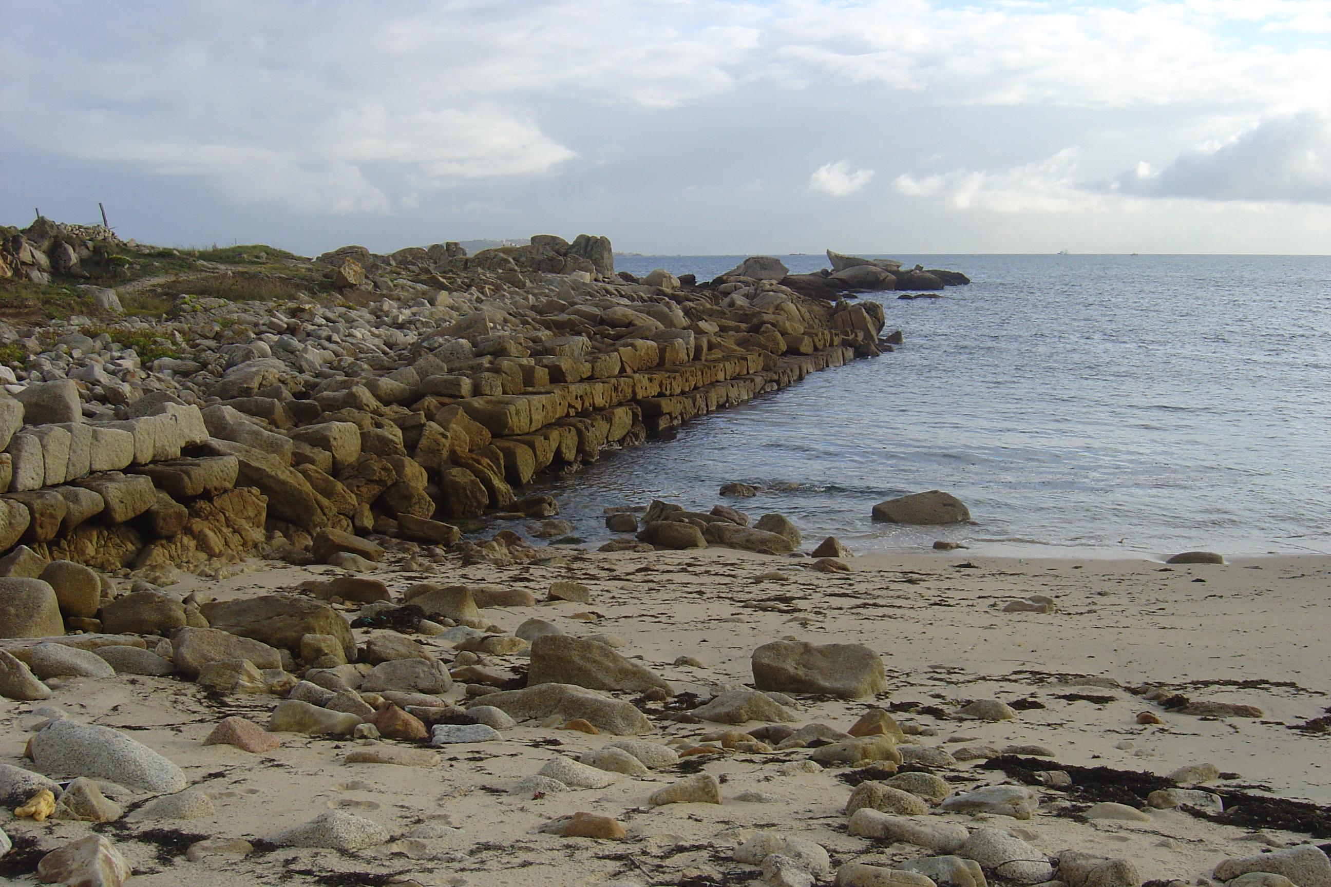 Foto playa Celeiráns.  A Covasa p. Fenicio