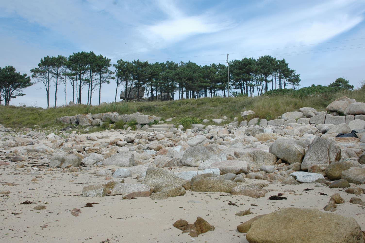 Foto playa Penisqueira. muelle da cobasa