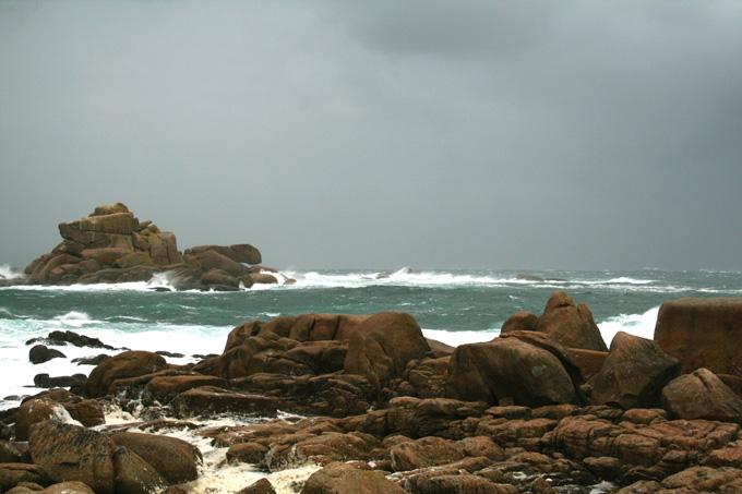 Foto playa Area Basta. temporal en Couso