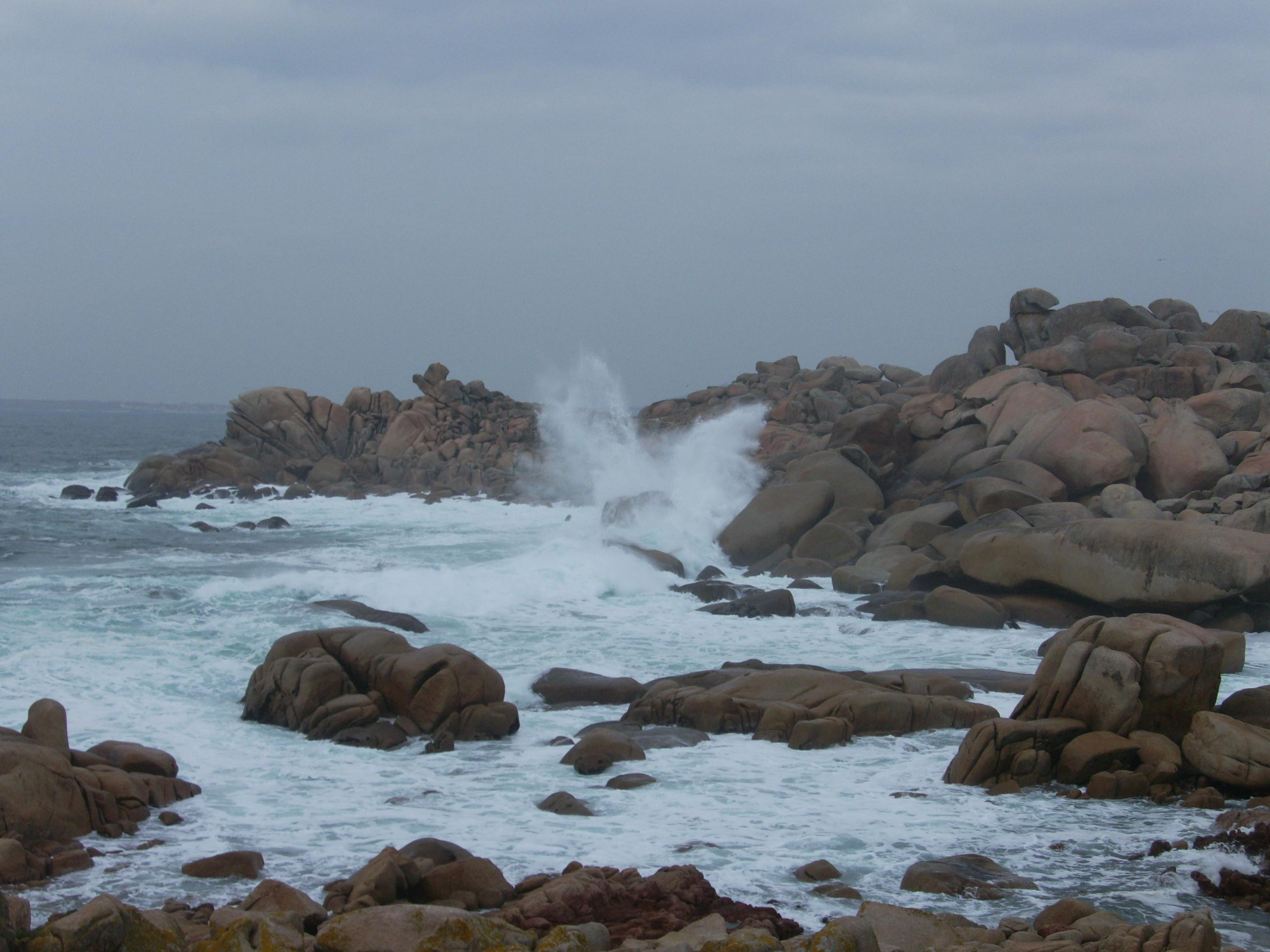 Foto playa Area Basta. O Perico. Mar de fondo