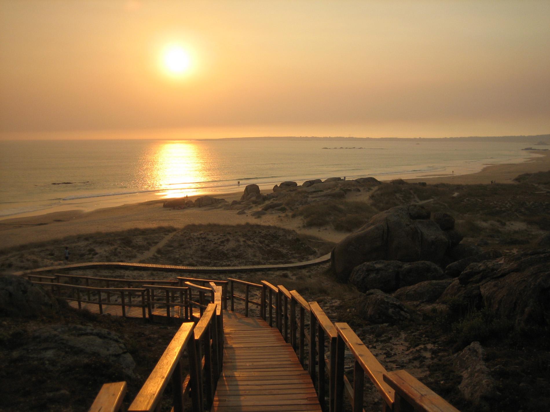 Foto playa Lagoa de Vixan / Anguieiro / Anguieira. Atardecer Playa Vilar