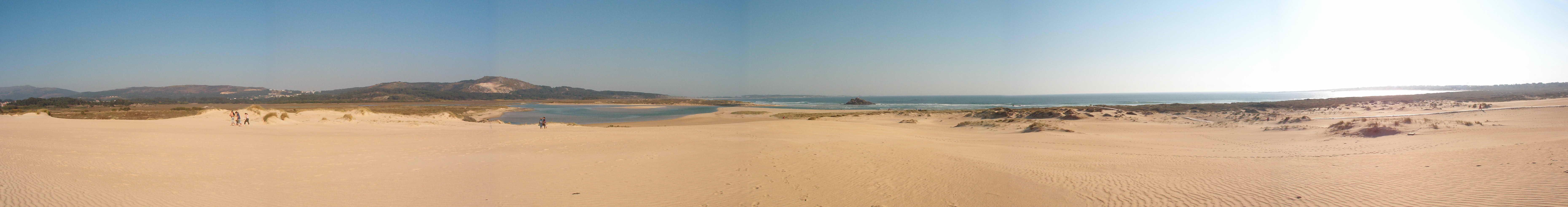 Foto playa A Ladeira / Las Dunas. Corrubedo Panoramica