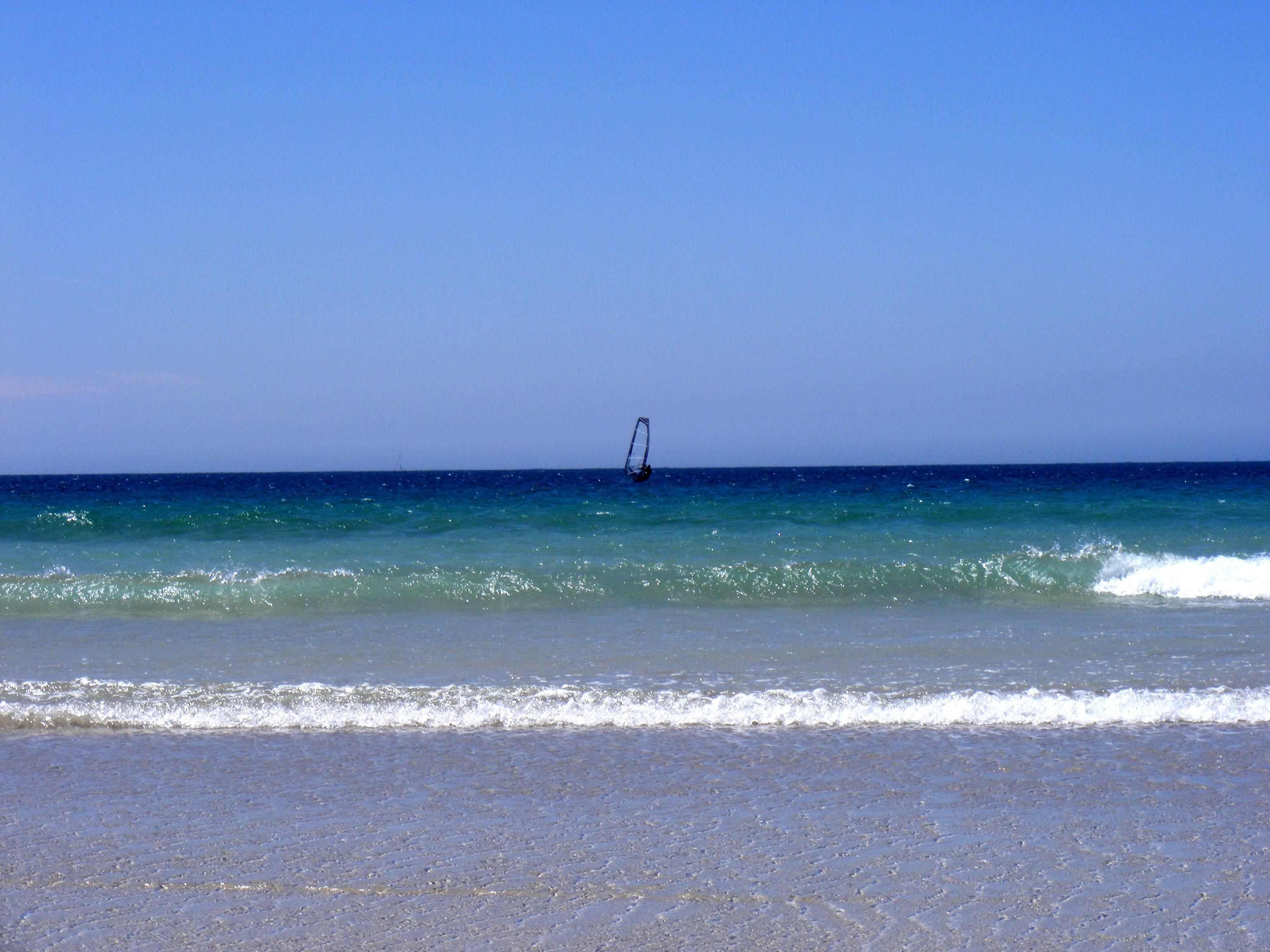 Foto playa As Furnas. windsurf