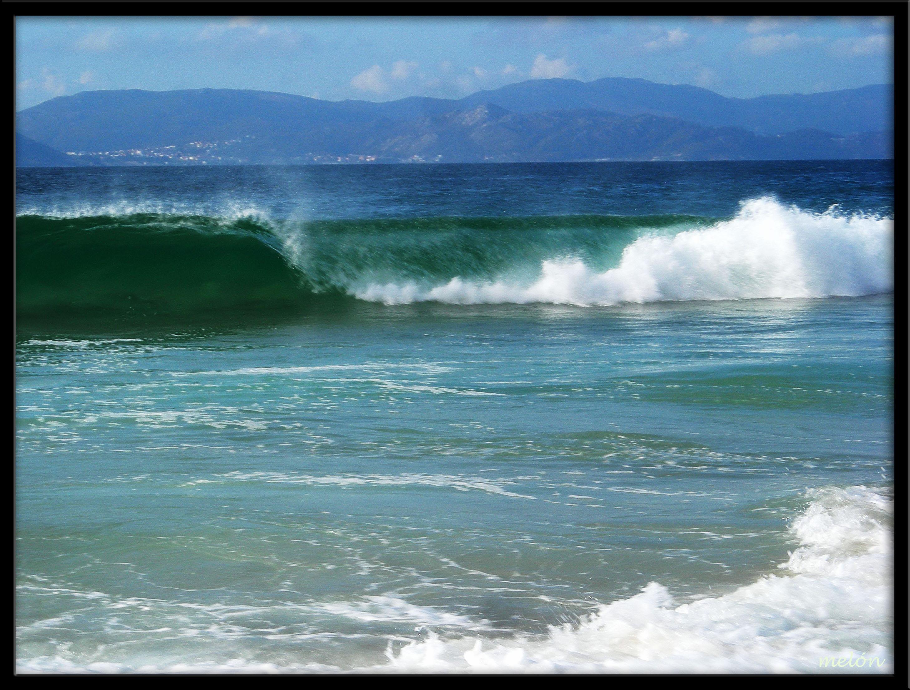 Foto playa As Seiras / Queiruga. Onda -Adicada a miña amiga Veronica Ponce.