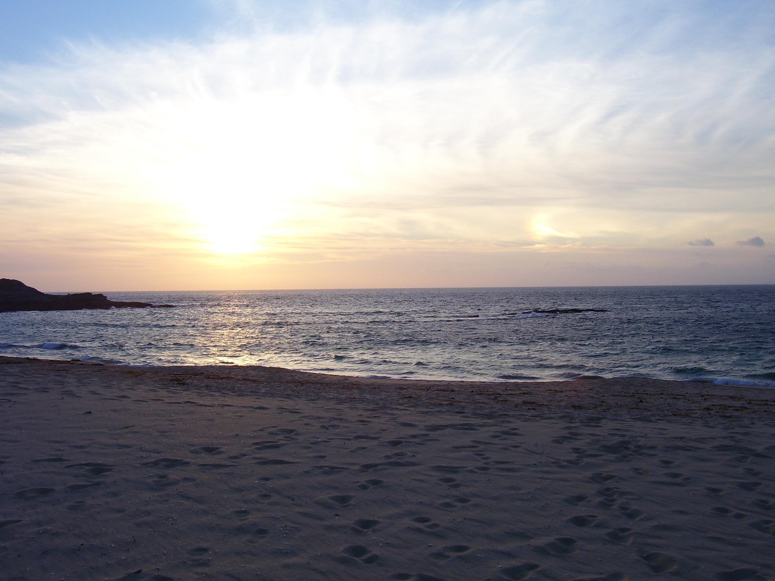 Foto playa As Seiras / Queiruga. Puesta de Sol en Tarrio