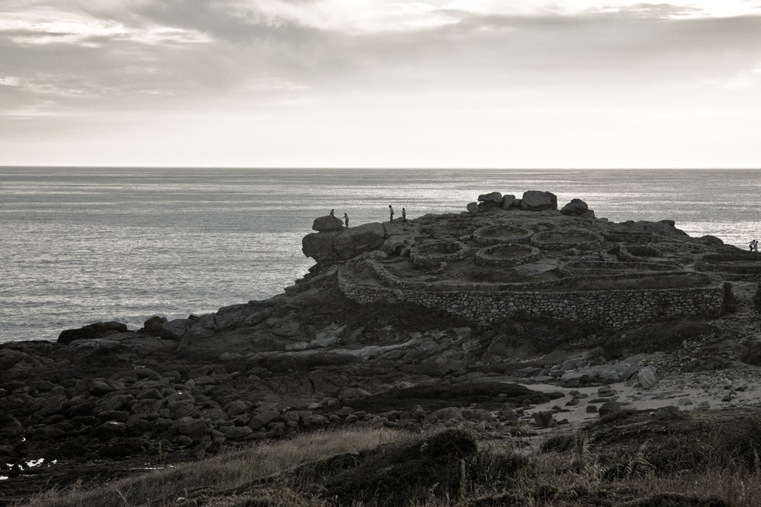 Foto playa Area Longa / Baroña. Castro de Baroña