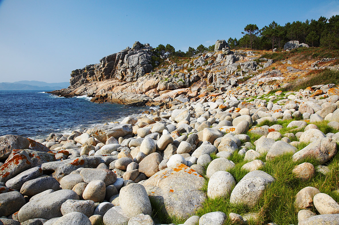 Foto playa Area Longa / Baroña. Cerca do Castro de Baroña