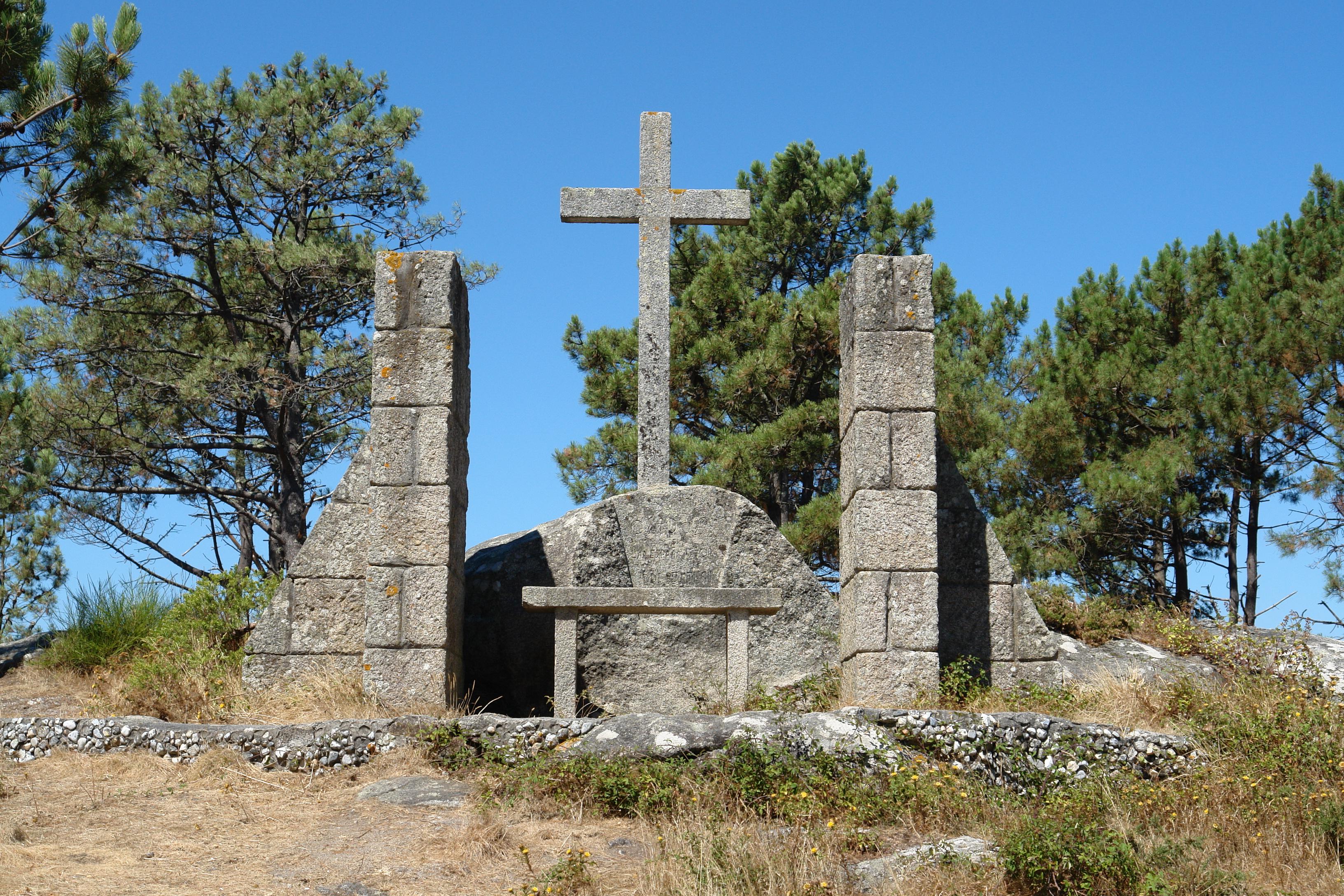 Foto playa Cabeiro / Caveiro. Aguieira, altar de piedra