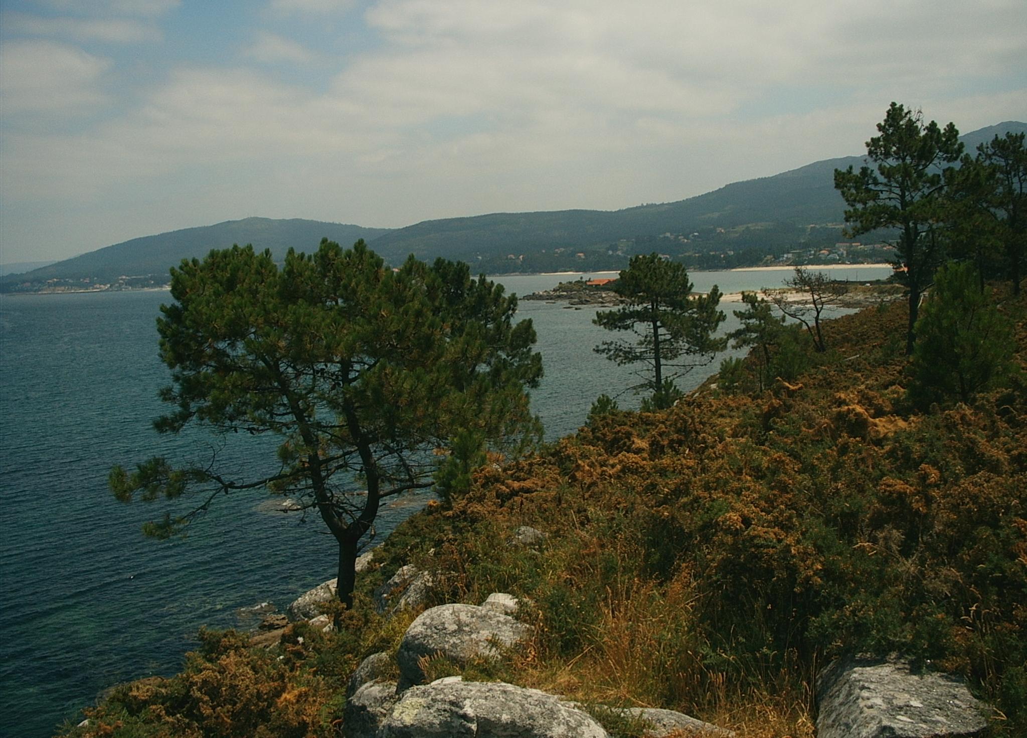 Foto playa Cabeiro / Caveiro. Vista desde el campamento