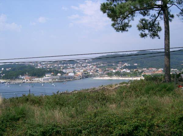 Foto playa Agracobo. Esteiro vista do Portiño 1