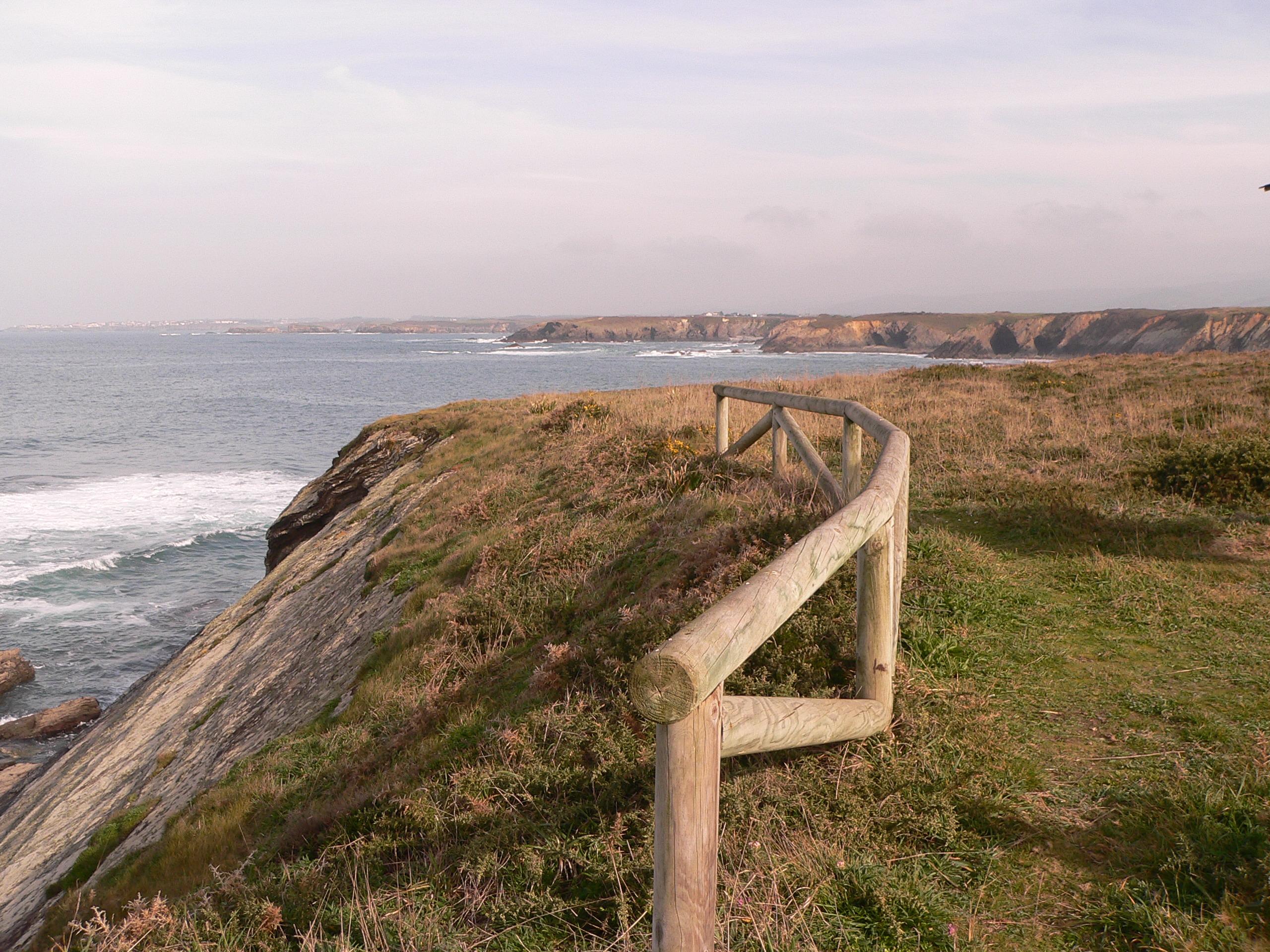 Foto playa Salgueiro. Mar Cantabrico  Y paisaje  en Castropol Asturias