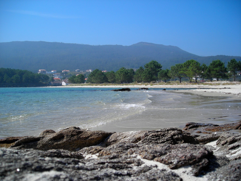 Foto playa Liñares. praia de Bornalle