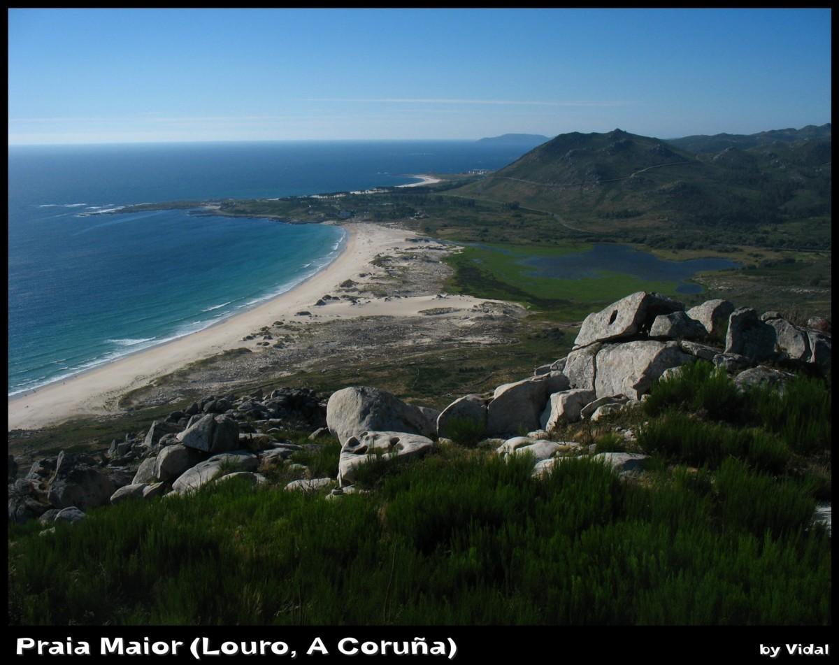 Foto playa Fogareiro. Praia Maior (Louro, A Coruña)