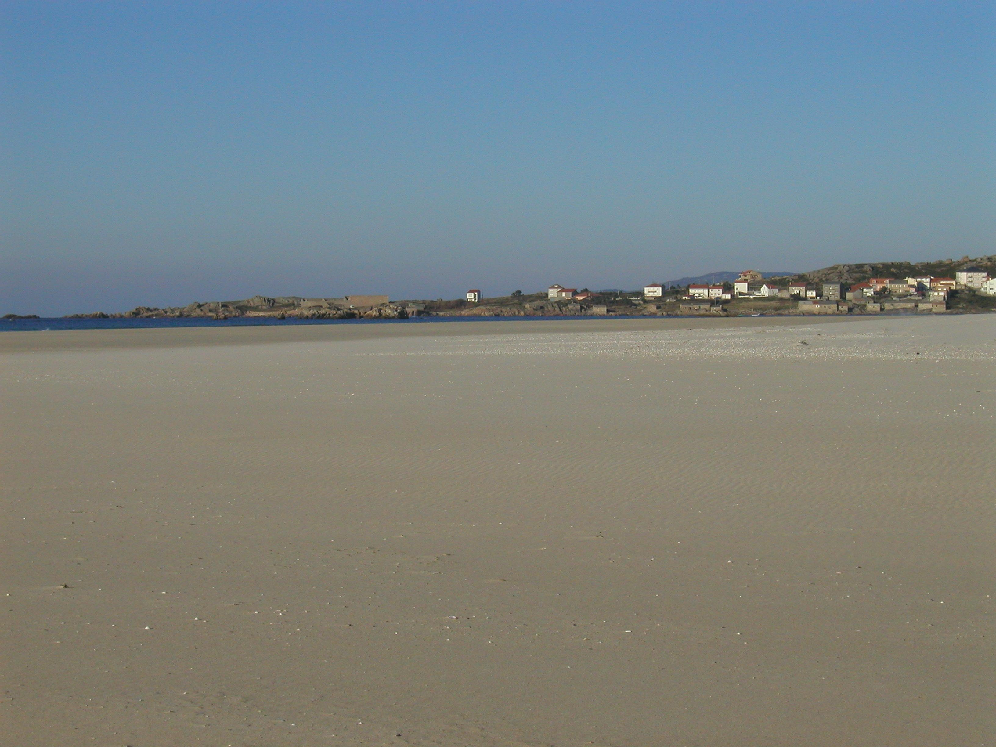 Foto playa Caldebarcos. marea baja